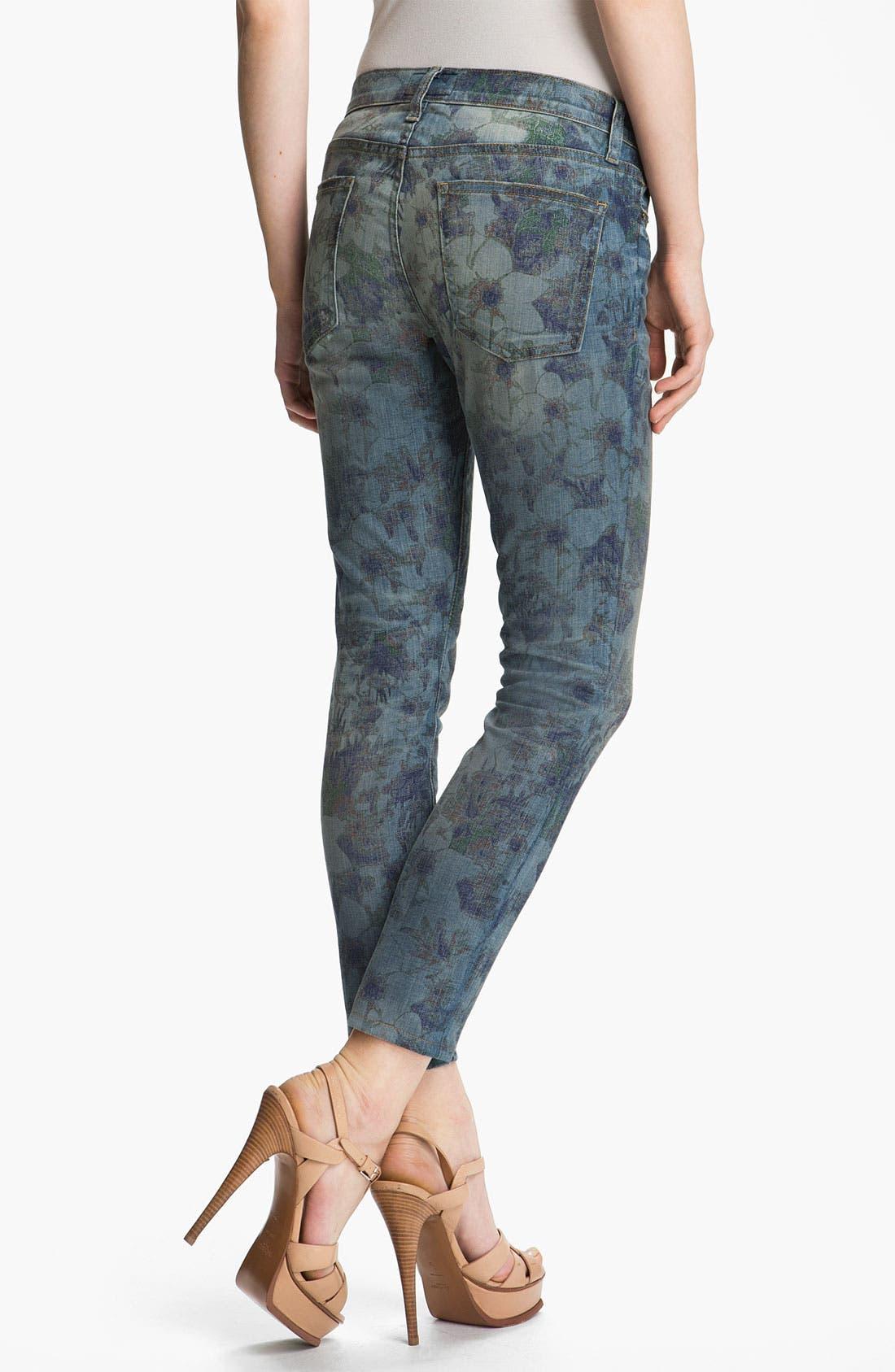 Alternate Image 3  - Current/Elliott 'The Stiletto' Burnout Floral Print Stretch Jeans