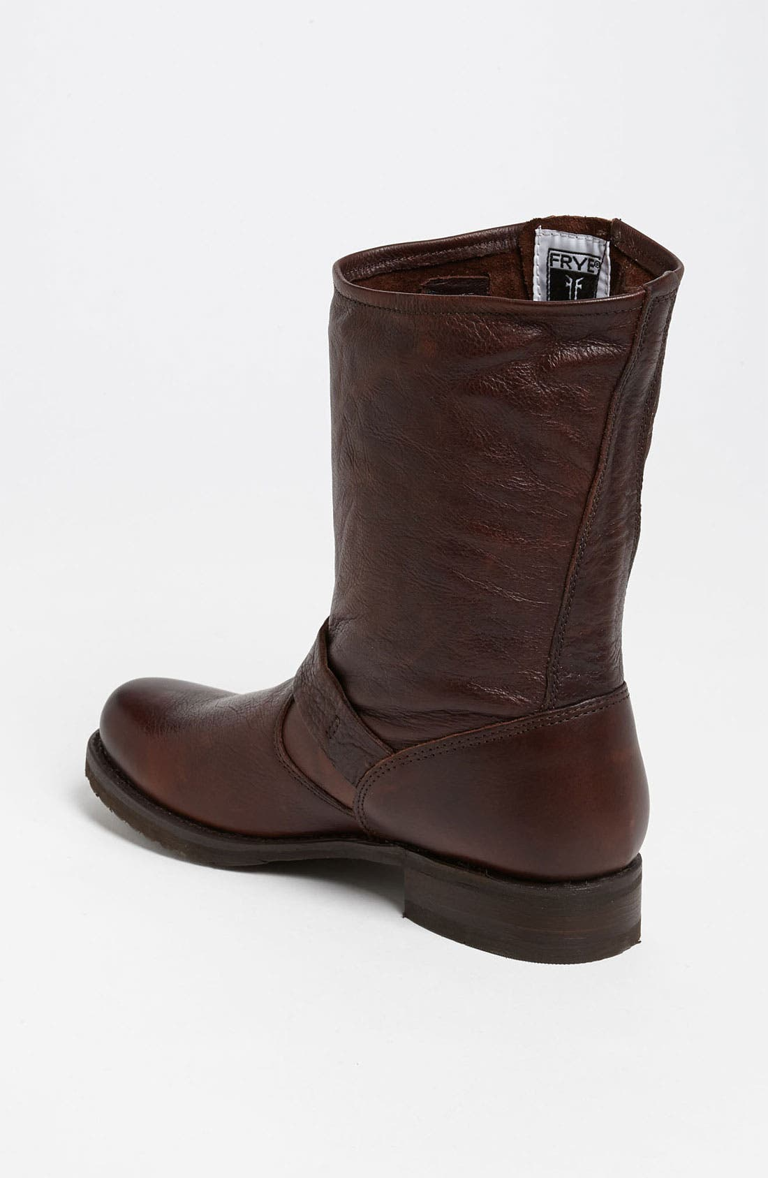'Veronica Short' Slouchy Boot,                             Alternate thumbnail 7, color,                             Dark Brown Leather