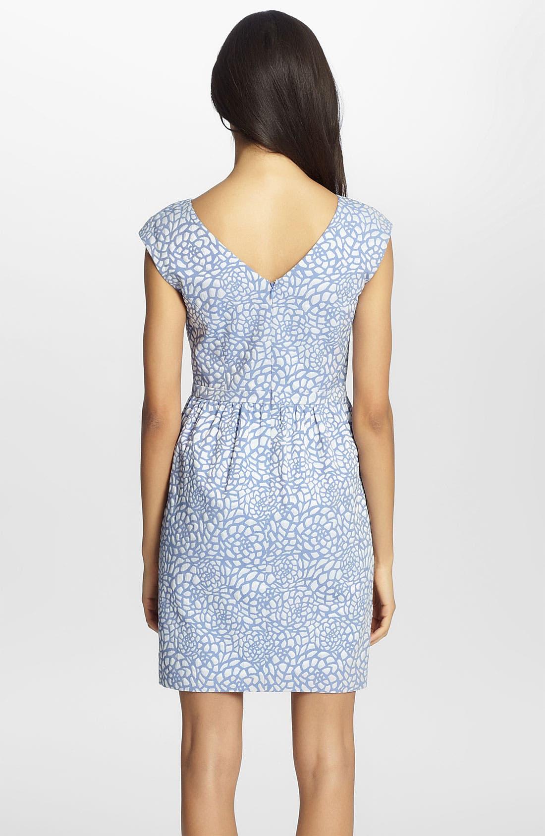 Alternate Image 2  - Cynthia Steffe 'Jasmine' Print Jacquard Dress