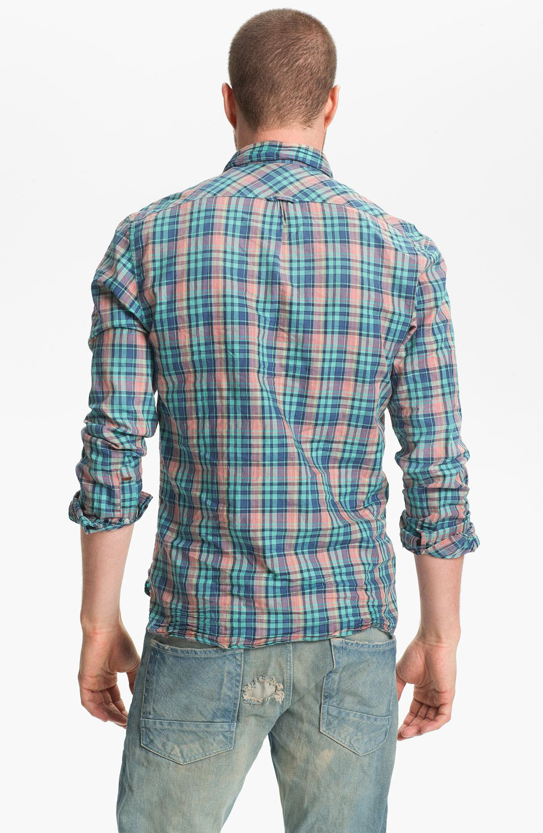 Alternate Image 3  - Scotch & Soda Plaid Woven Shirt