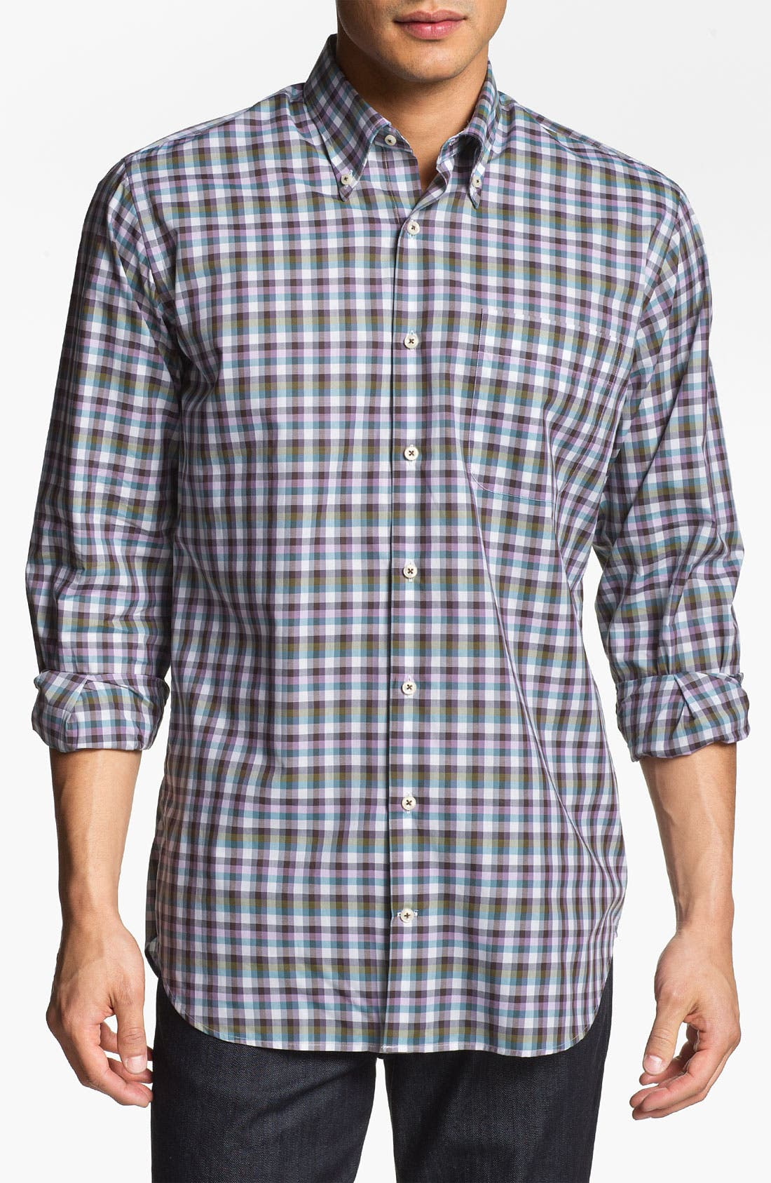 Alternate Image 1 Selected - Peter Millar 'Capri' Regular Fit Sport Shirt (Tall)