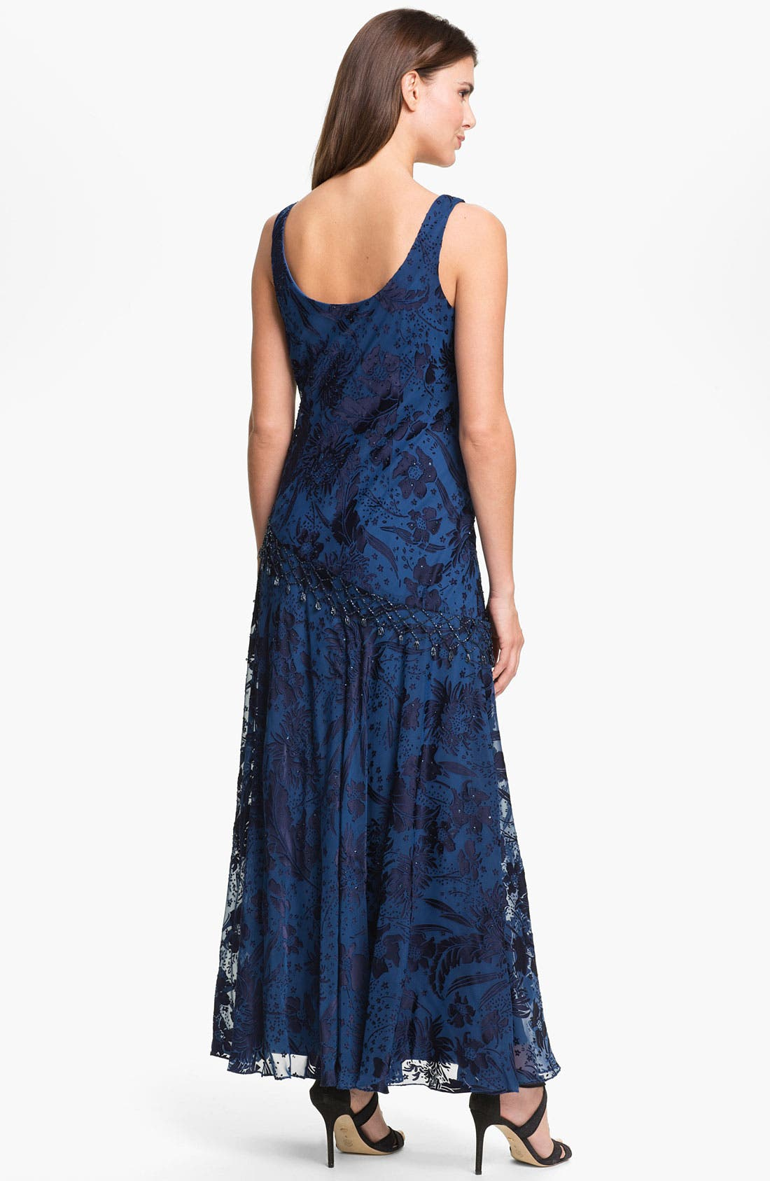 Alternate Image 2  - Alex Evenings Sequin Burnout Overlay Dress with Shawl