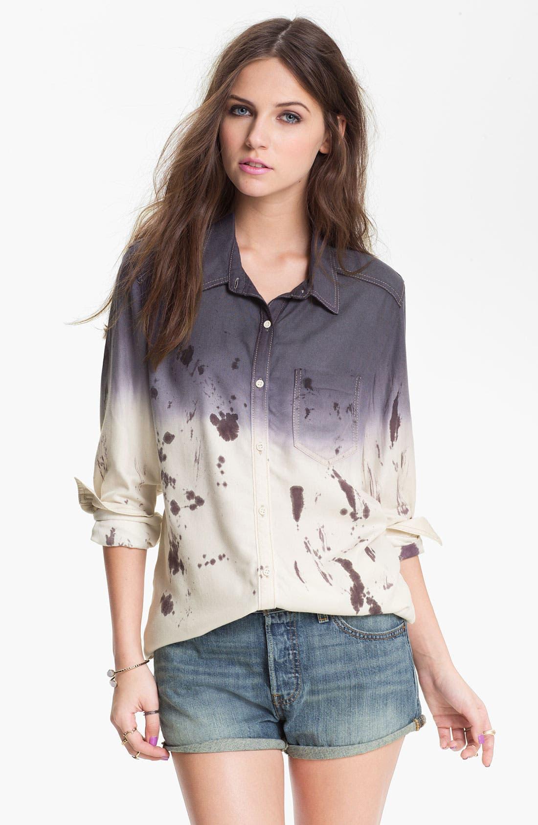 Alternate Image 1 Selected - Rubbish Dip Dye Menswear Shirt (Juniors)