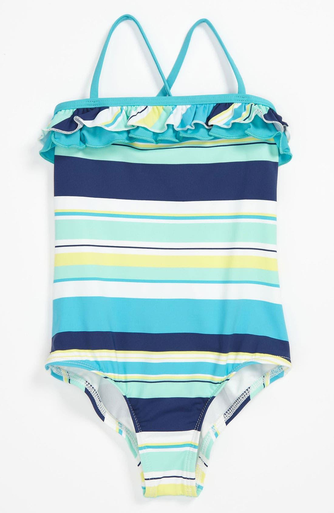 Alternate Image 1 Selected - Splendid Stripe One Piece Swimsuit (Little Girls)