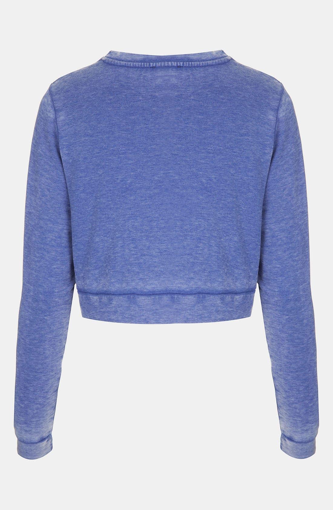 Alternate Image 2  - Topshop Crop Sweatshirt