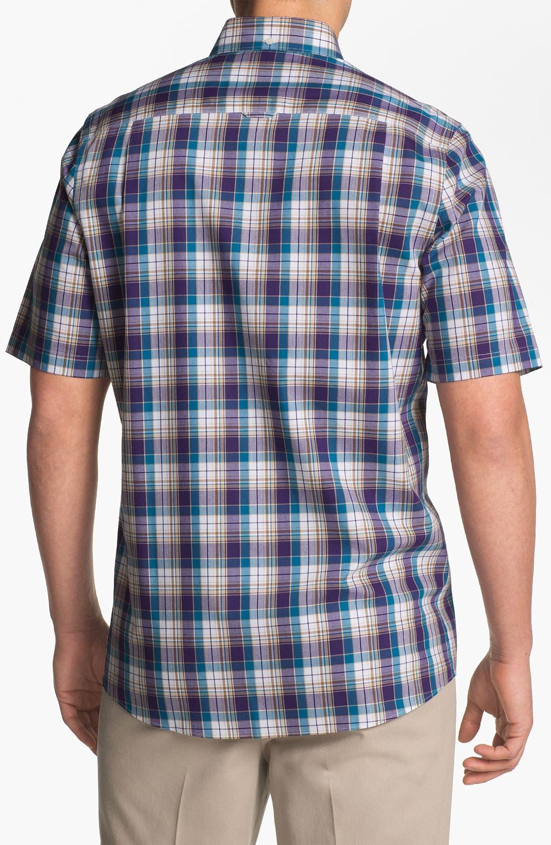 Alternate Image 2  - Nordstrom Smartcare™ Regular Fit Short Sleeve Sport Shirt