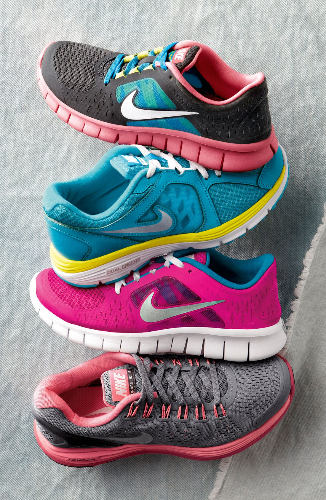 Alternate Image 5  - Nike 'Free Run 3' Sneaker (Baby, Walker, Toddler & Little Kid)