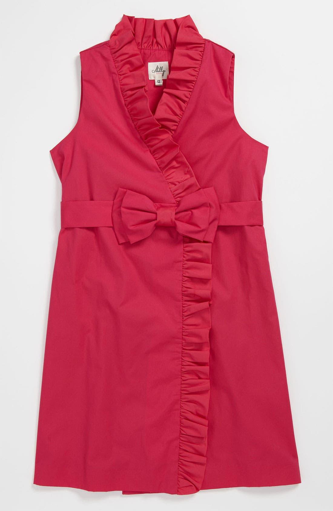 Main Image - Milly Minis Ruffle Wrap Dress (Little Girls & Big Girls)