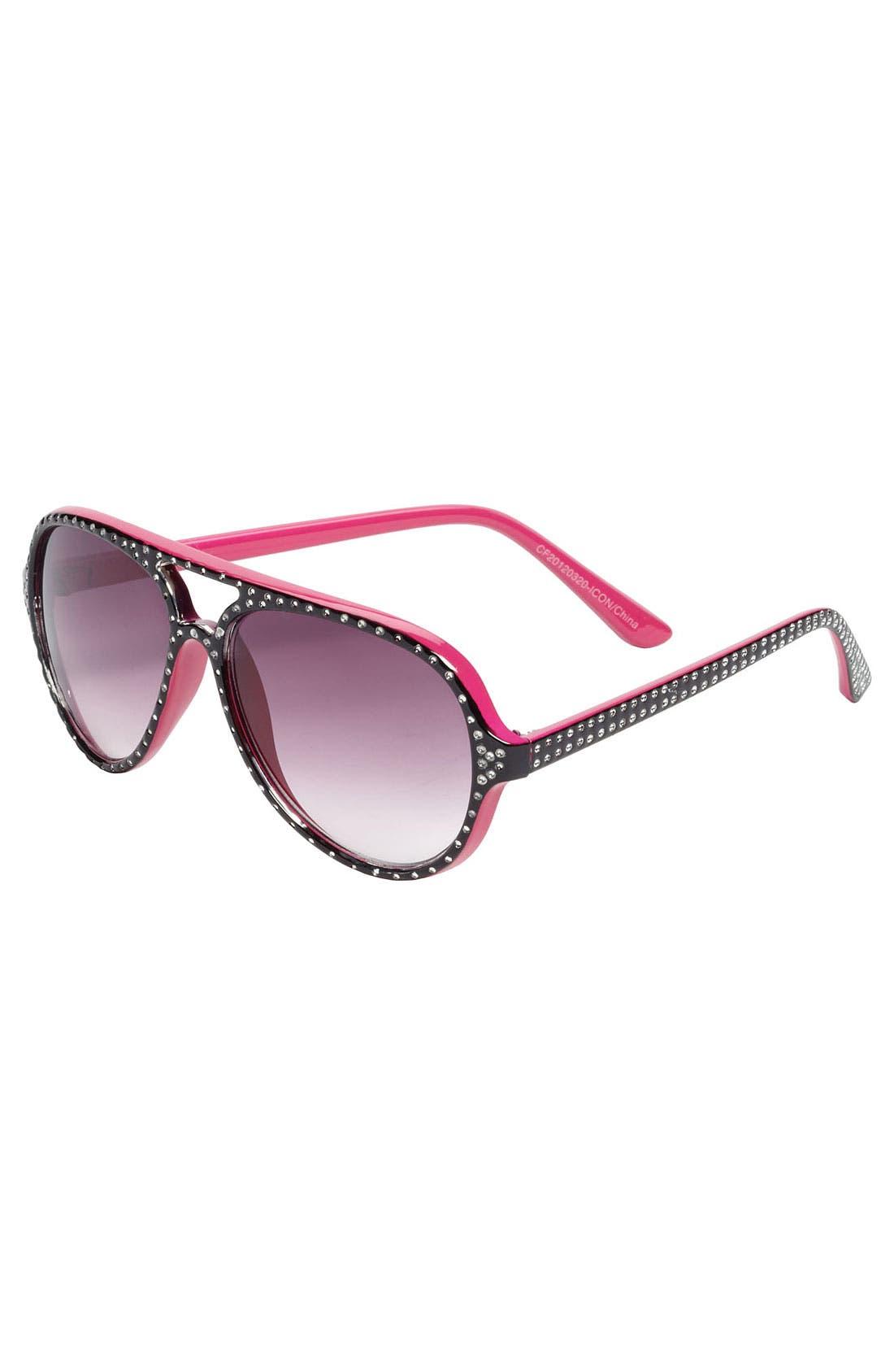 Alternate Image 1 Selected - Icon Eyewear Aviator Sunglasses (Girls)