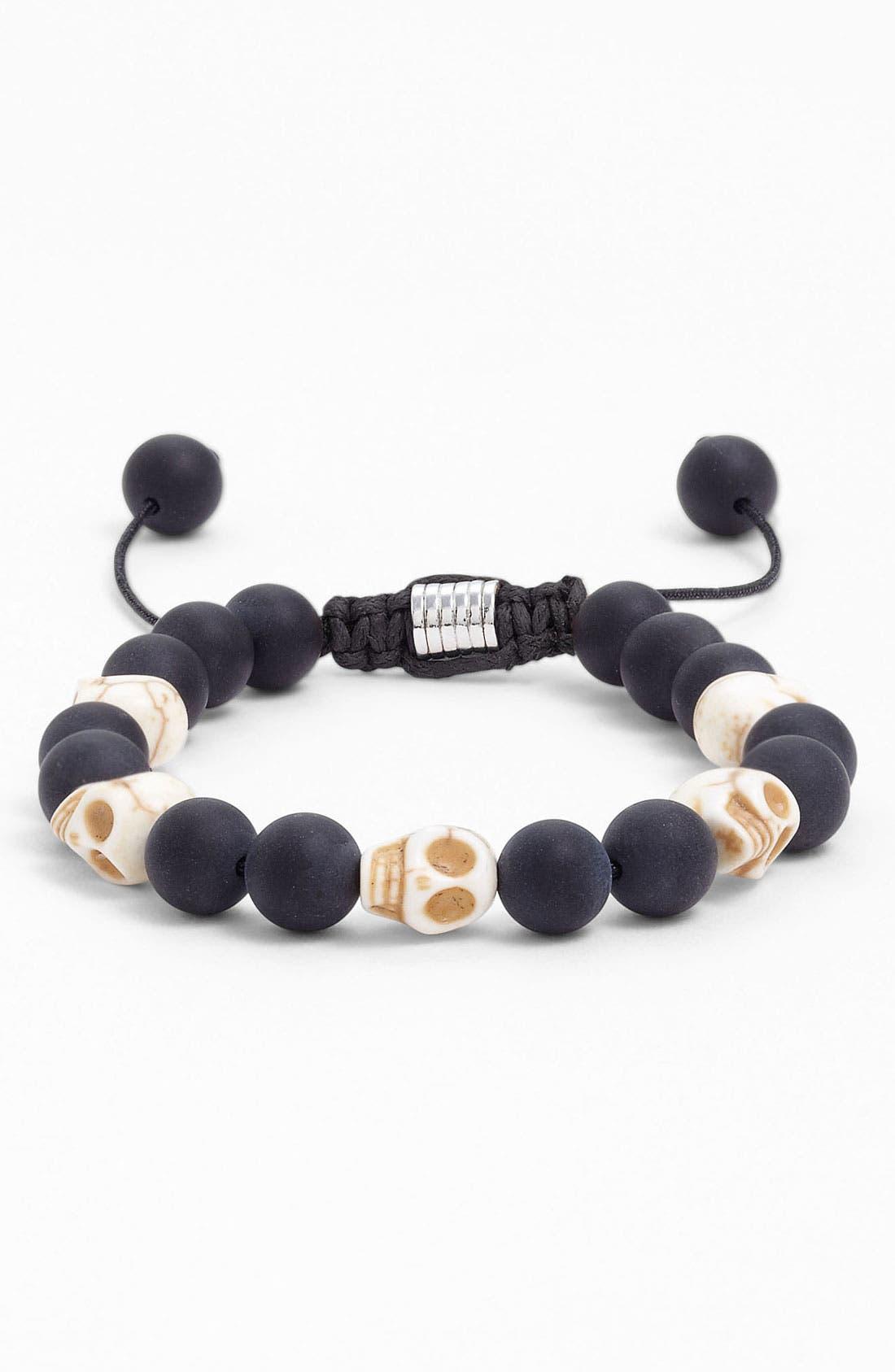 Main Image - Zack Onyx Skull Bracelet