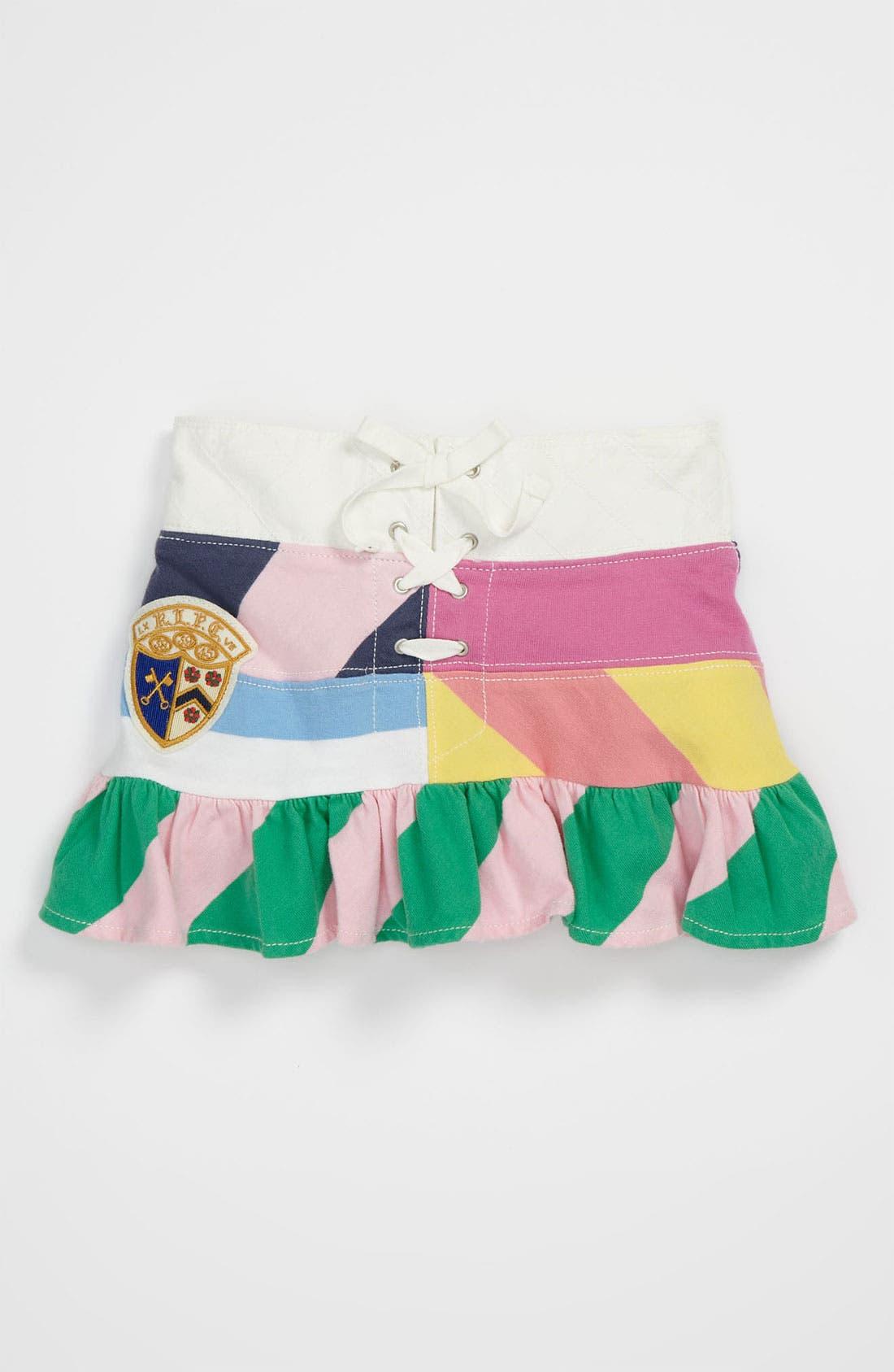 Alternate Image 1 Selected - Ralph Lauren Patchwork Skirt (Toddler)
