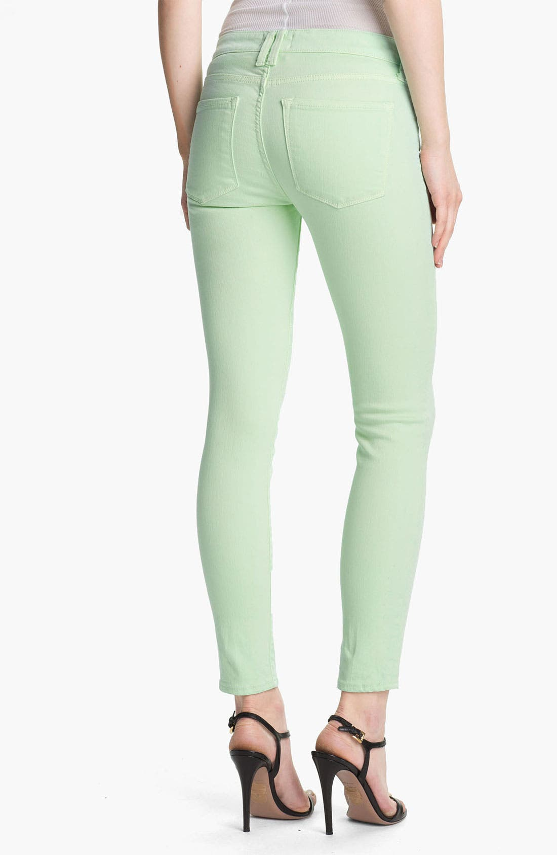Alternate Image 2  - Vince Colored Skinny Stretch Ankle Jeans (Light Mint)