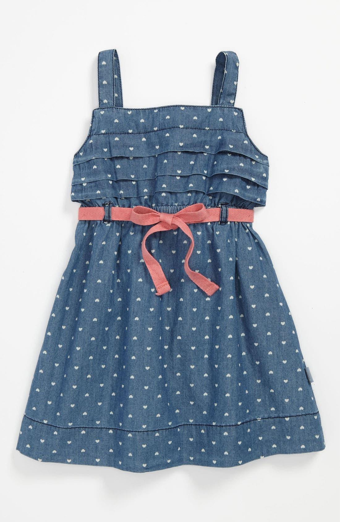Main Image - Pumpkin Patch 'Amy' Denim Dress (Toddler)