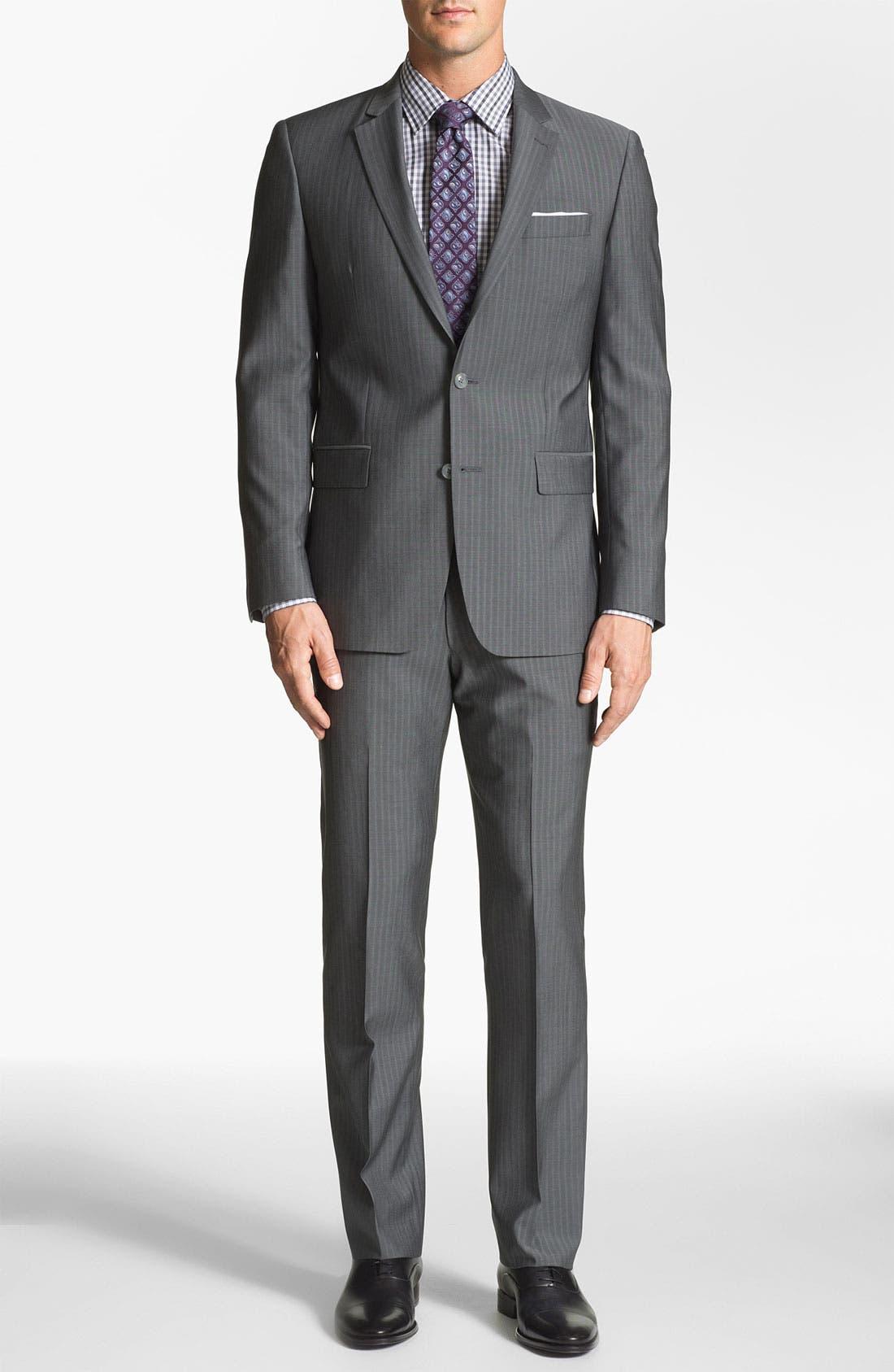 Alternate Image 2  - John Varvatos Star USA 'Filmore' Trim Fit Stripe Suit