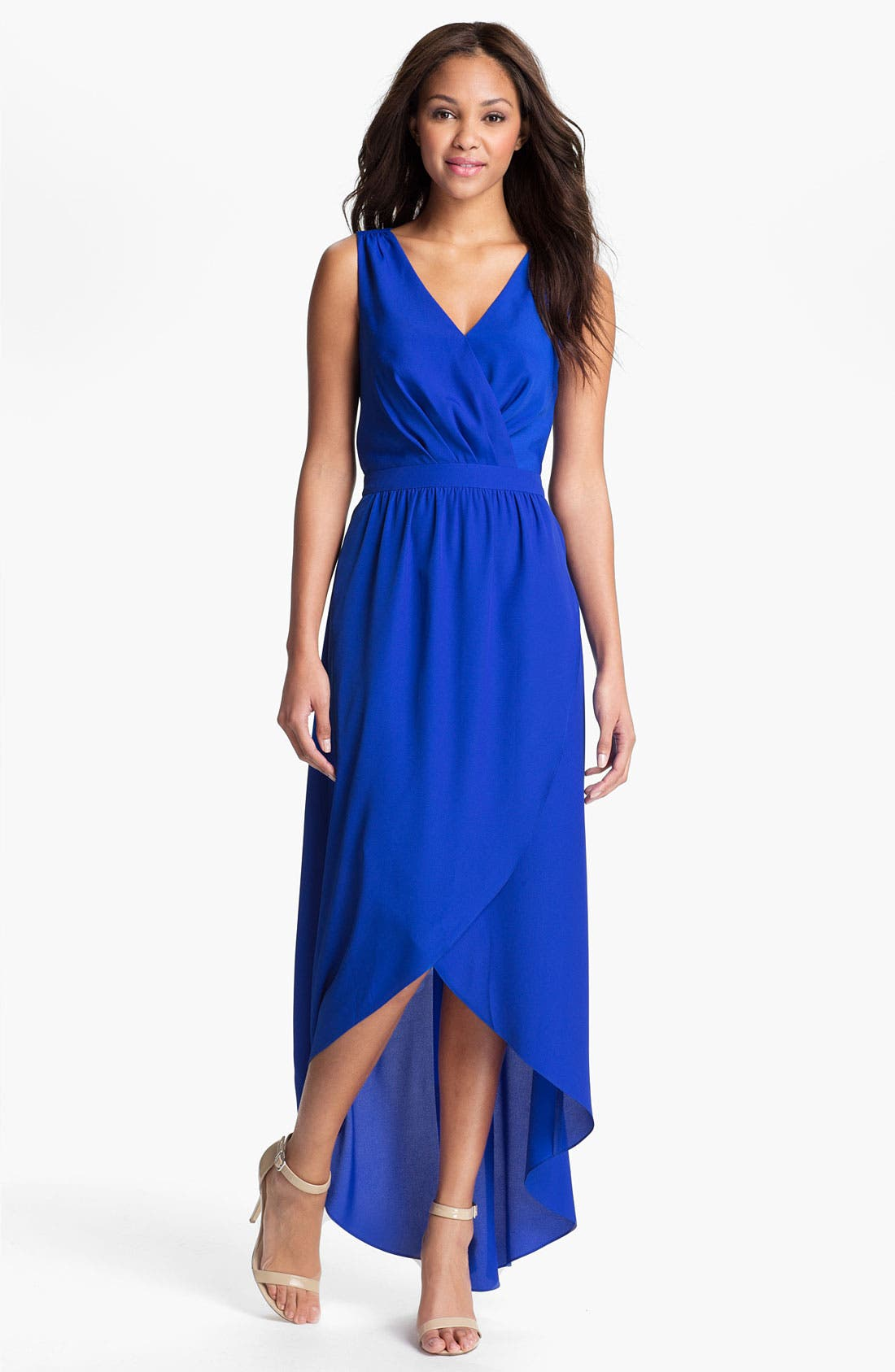 Alternate Image 1 Selected - Presley Skye Lace Up High/Low Maxi Dress
