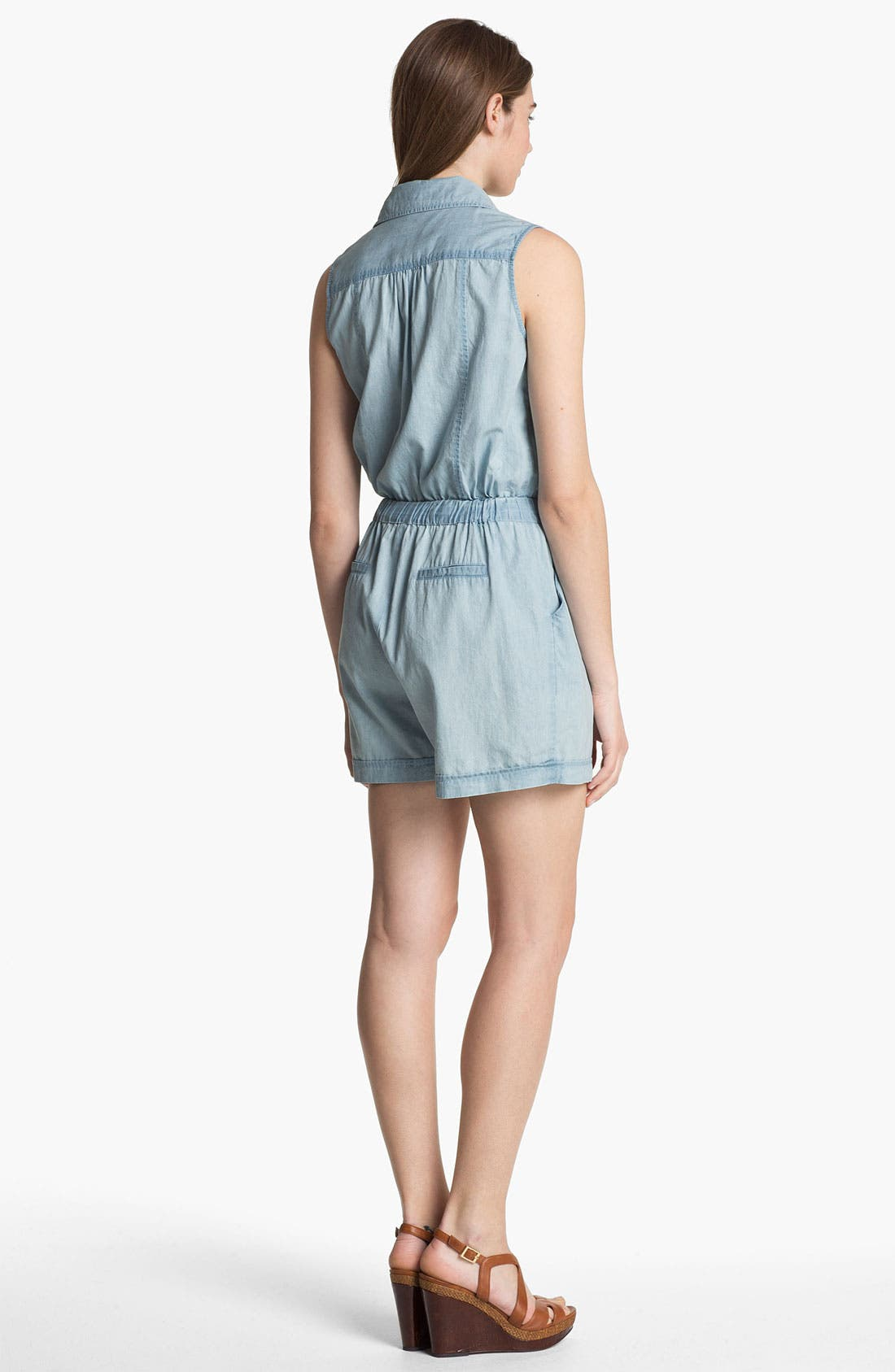 Alternate Image 2  - Two by Vince Camuto Chambray Romper