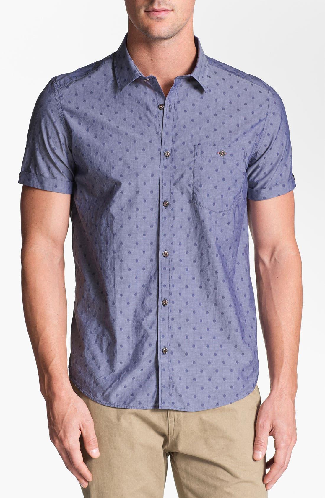 Alternate Image 1 Selected - Ted Baker London 'Metrosp Dobby' Regular Fit Short Sleeve Sport Shirt