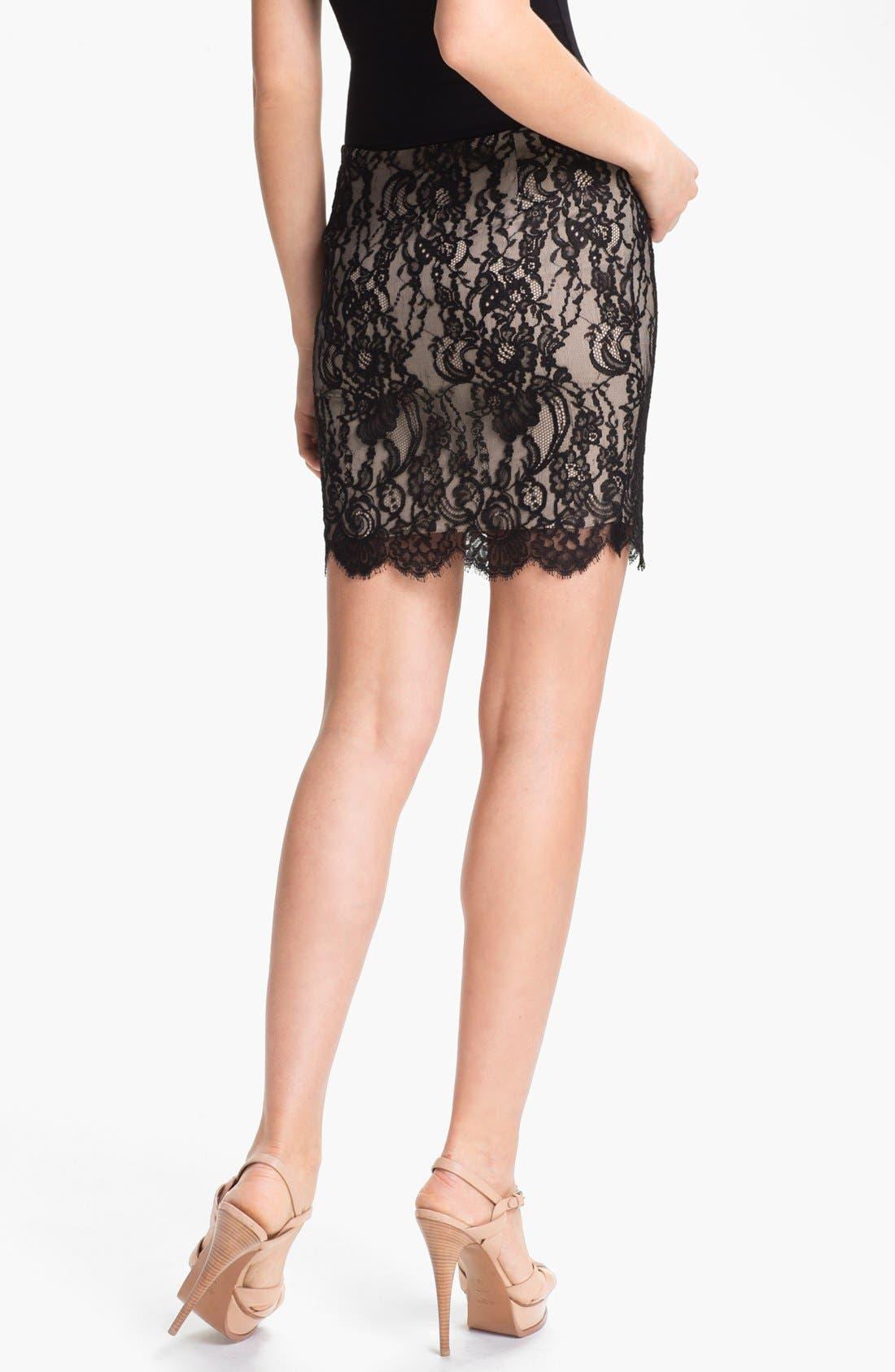 Alternate Image 2  - Haute Hippie Lace Pencil Skirt