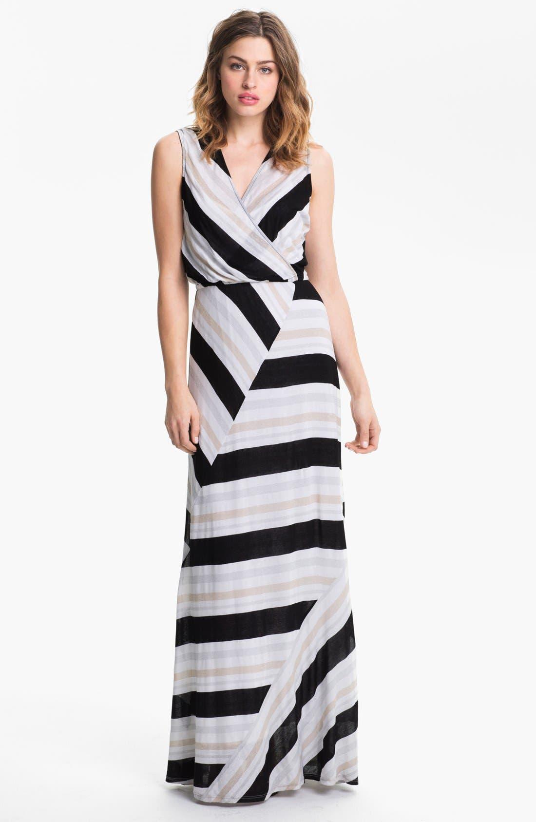 Alternate Image 1 Selected - Ella Moss Stripe Surplice Maxi Dress