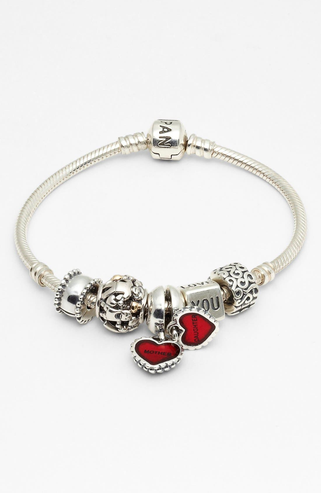 Alternate Image 3  - PANDORA 'Piece of My Heart' Dangle Charms (Set of 2)
