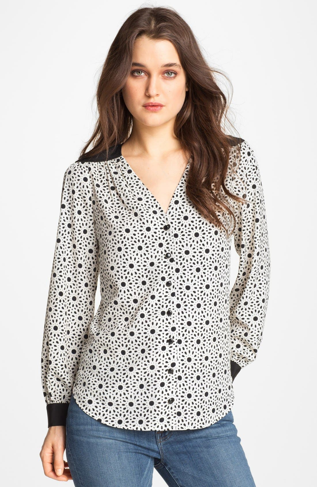 Alternate Image 1 Selected - Bellatrix Floral Print Cutout Blouse