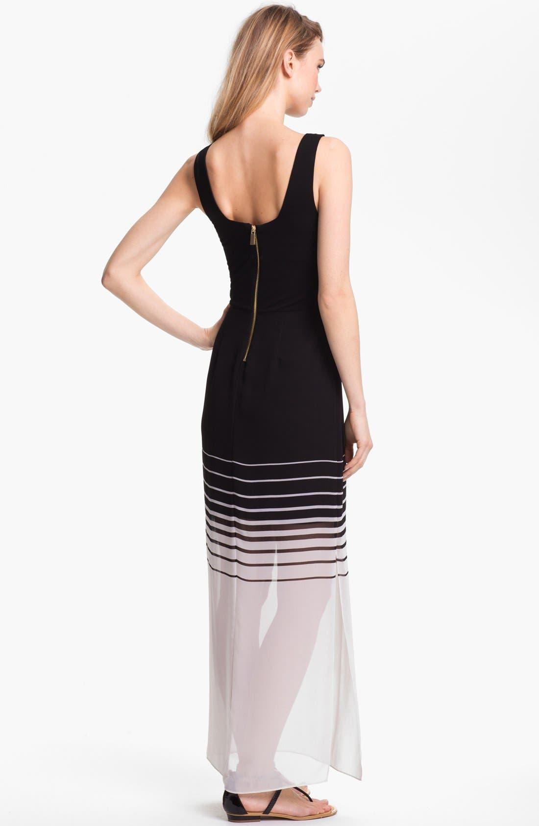 Alternate Image 2  - Vince Camuto Mixed Media Maxi Dress (Regular & Petite)