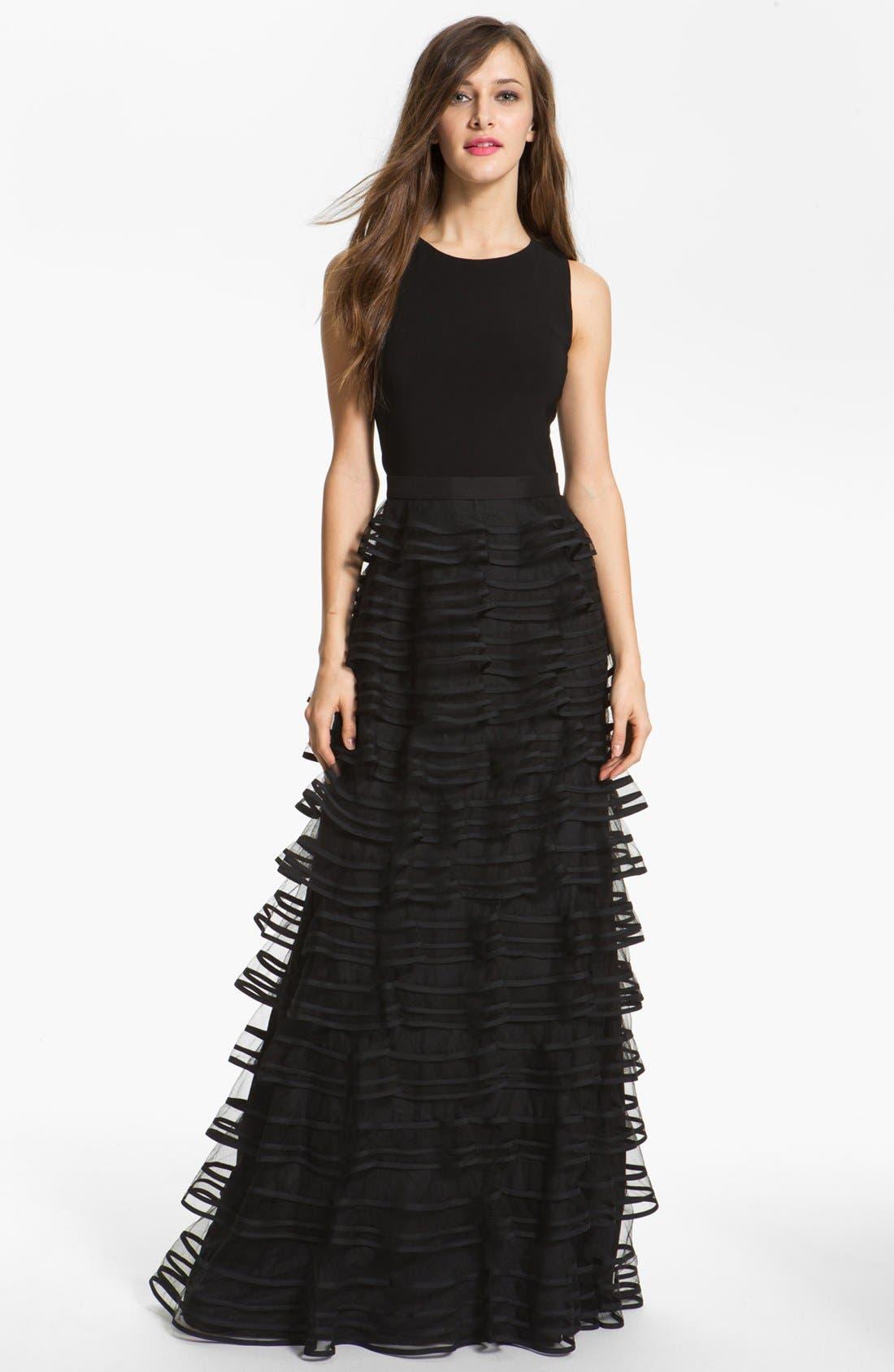 Main Image - Kathy Hilton Sleeveless Tiered Mesh Dress