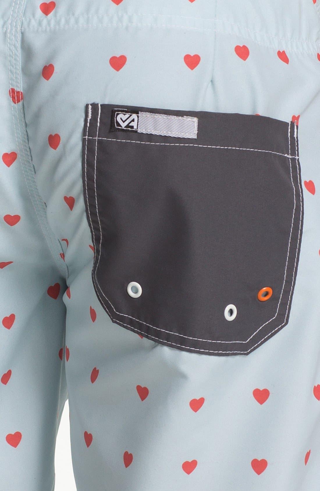 Alternate Image 3  - ambsn 'Cupid' Print Board Shorts