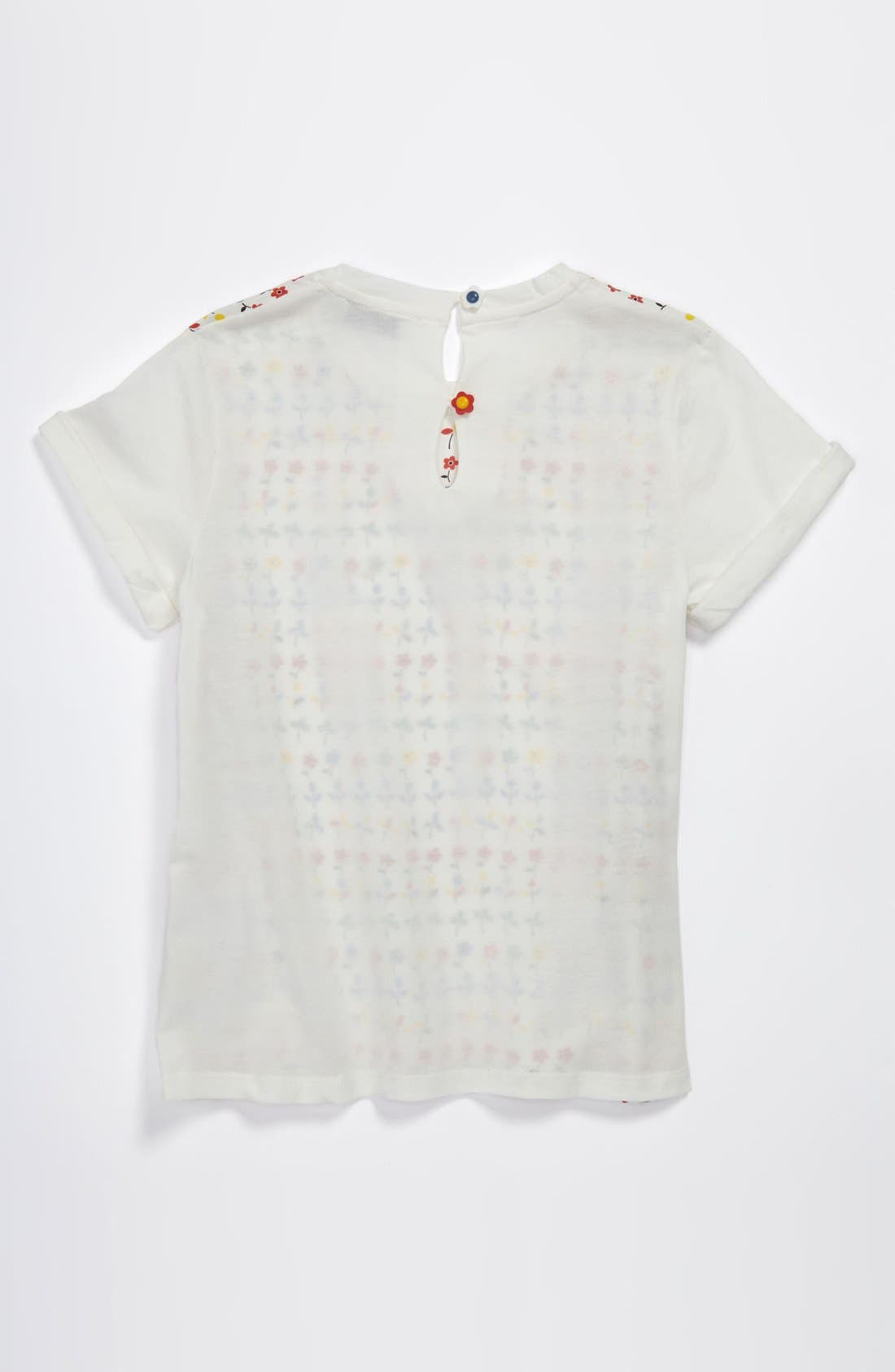 Alternate Image 2  - Stella McCartney Kids Floral Print Tee (Toddler, Little Girls & Big Girls)