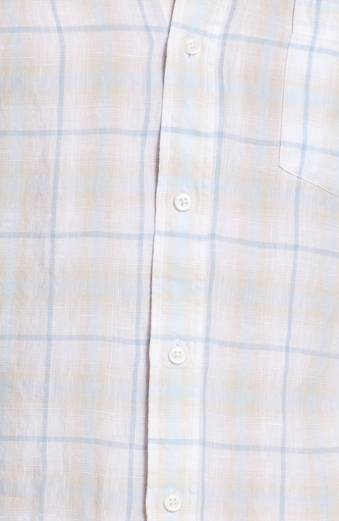 Alternate Image 3  - Toscano Linen Sport Shirt