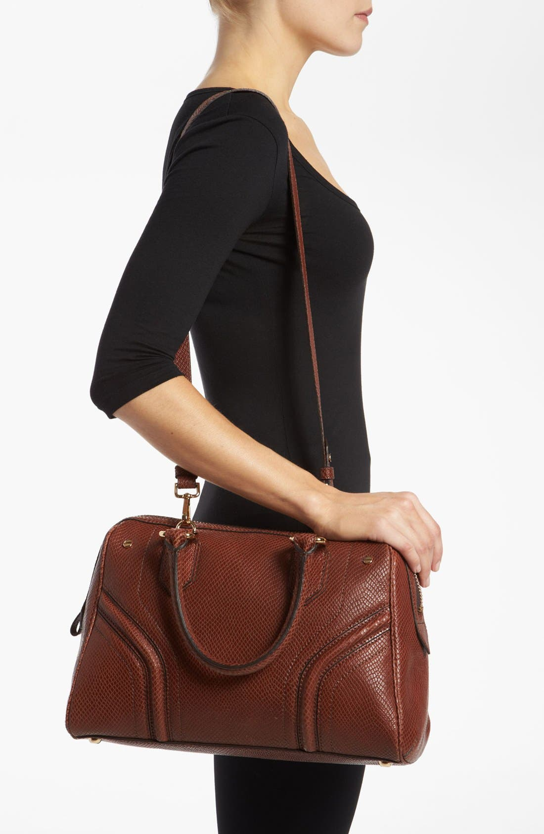 Alternate Image 2  - Milly 'Zoey' Snake Embossed Leather Satchel