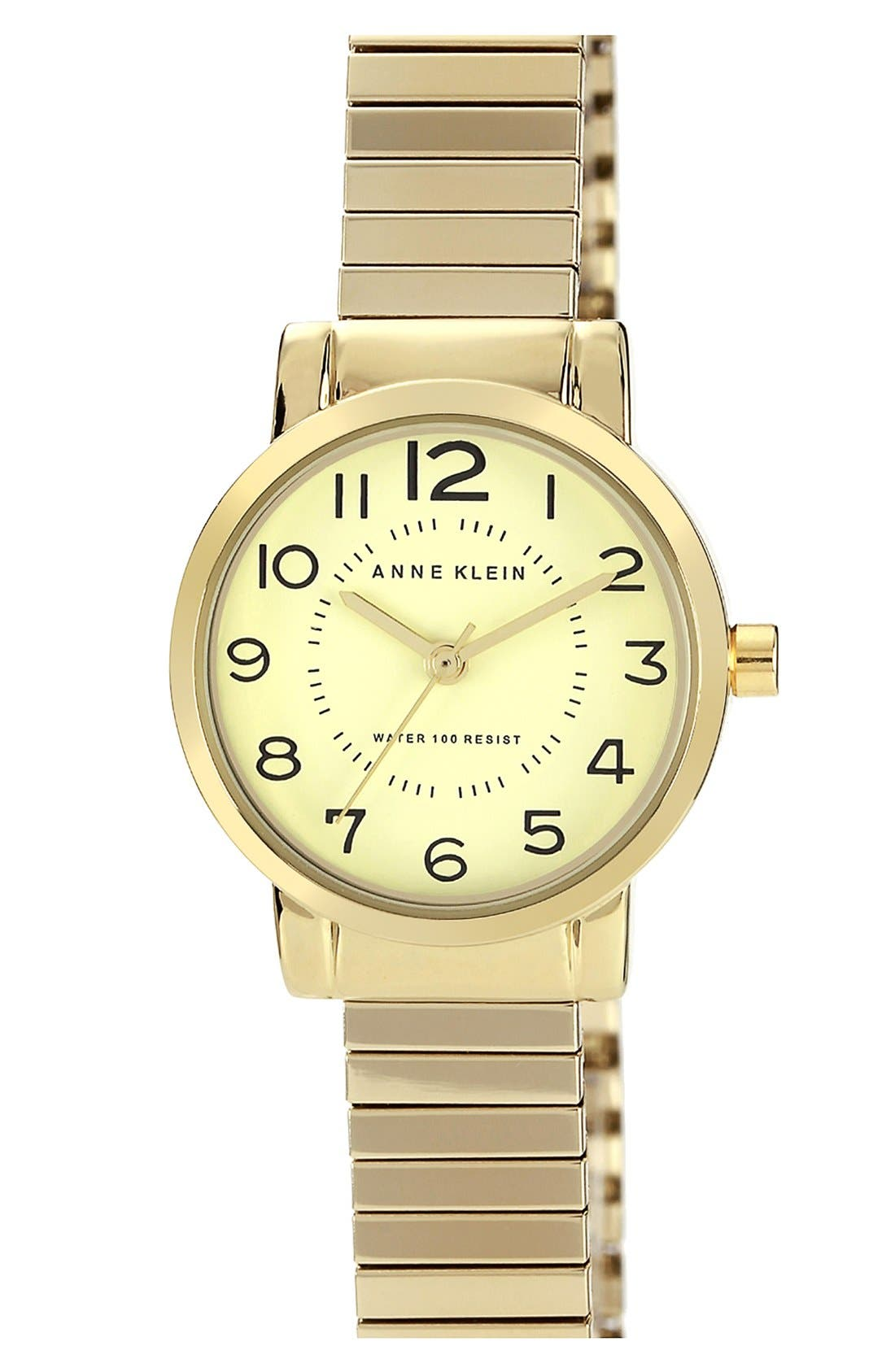 Main Image - Anne Klein Round Expandable Bracelet Watch, 26mm