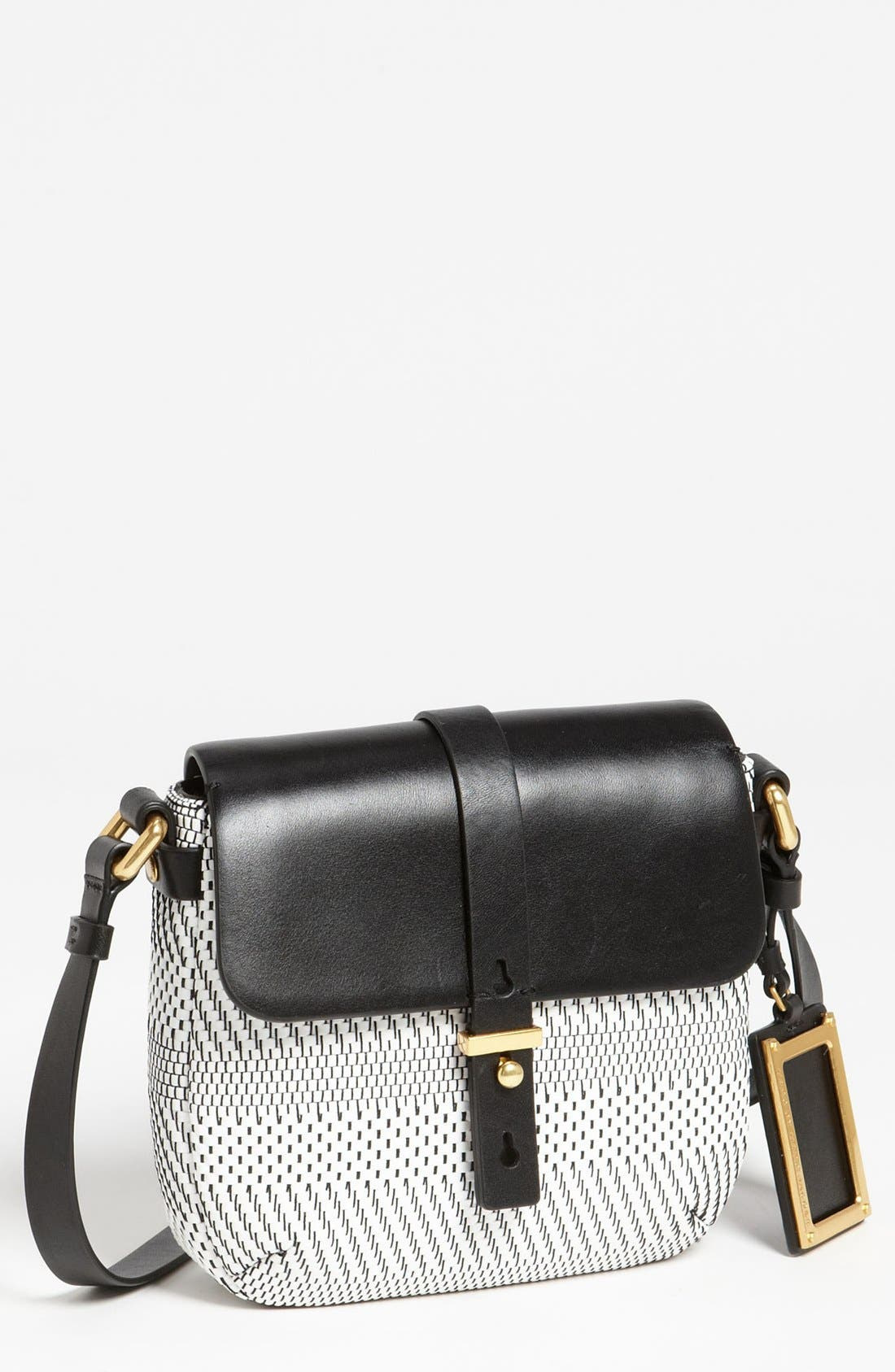 Alternate Image 1 Selected - MARC BY MARC JACOBS 'Werdie Weavy - Isabella' Faux Leather Crossbody Bag