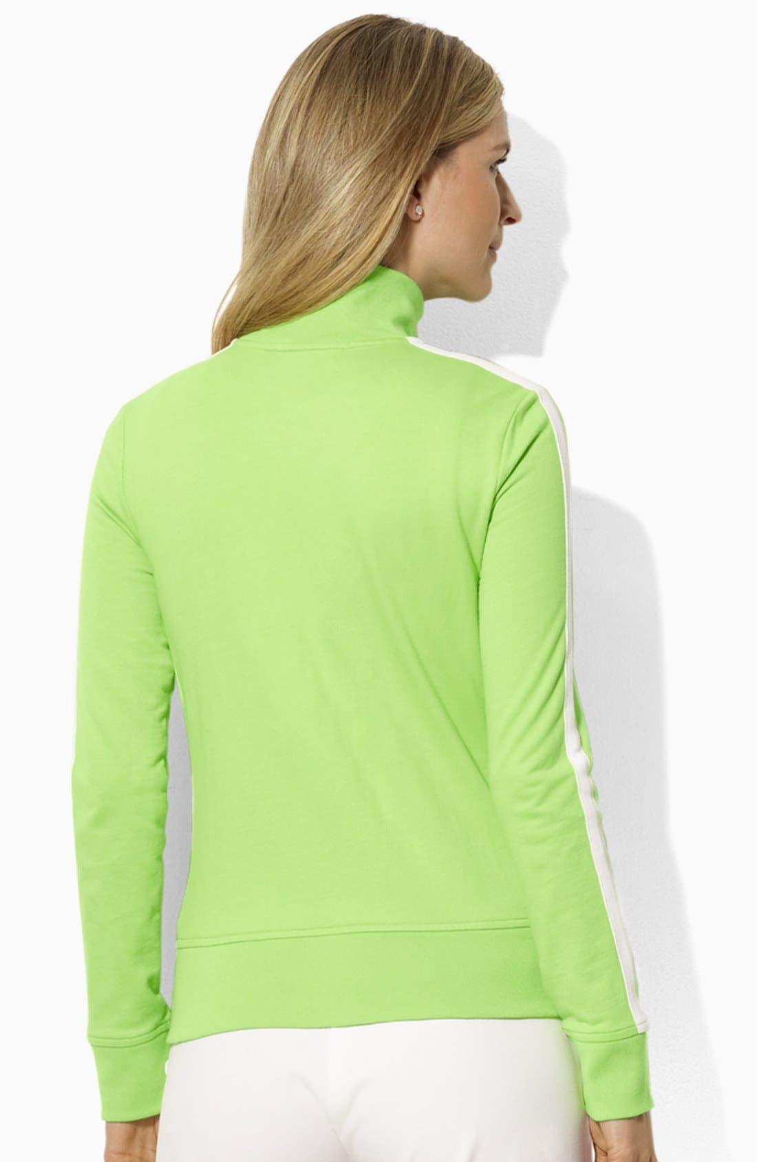 Alternate Image 2  - Lauren Ralph Lauren Mock Neck Jacket (Petite) (Online Only)
