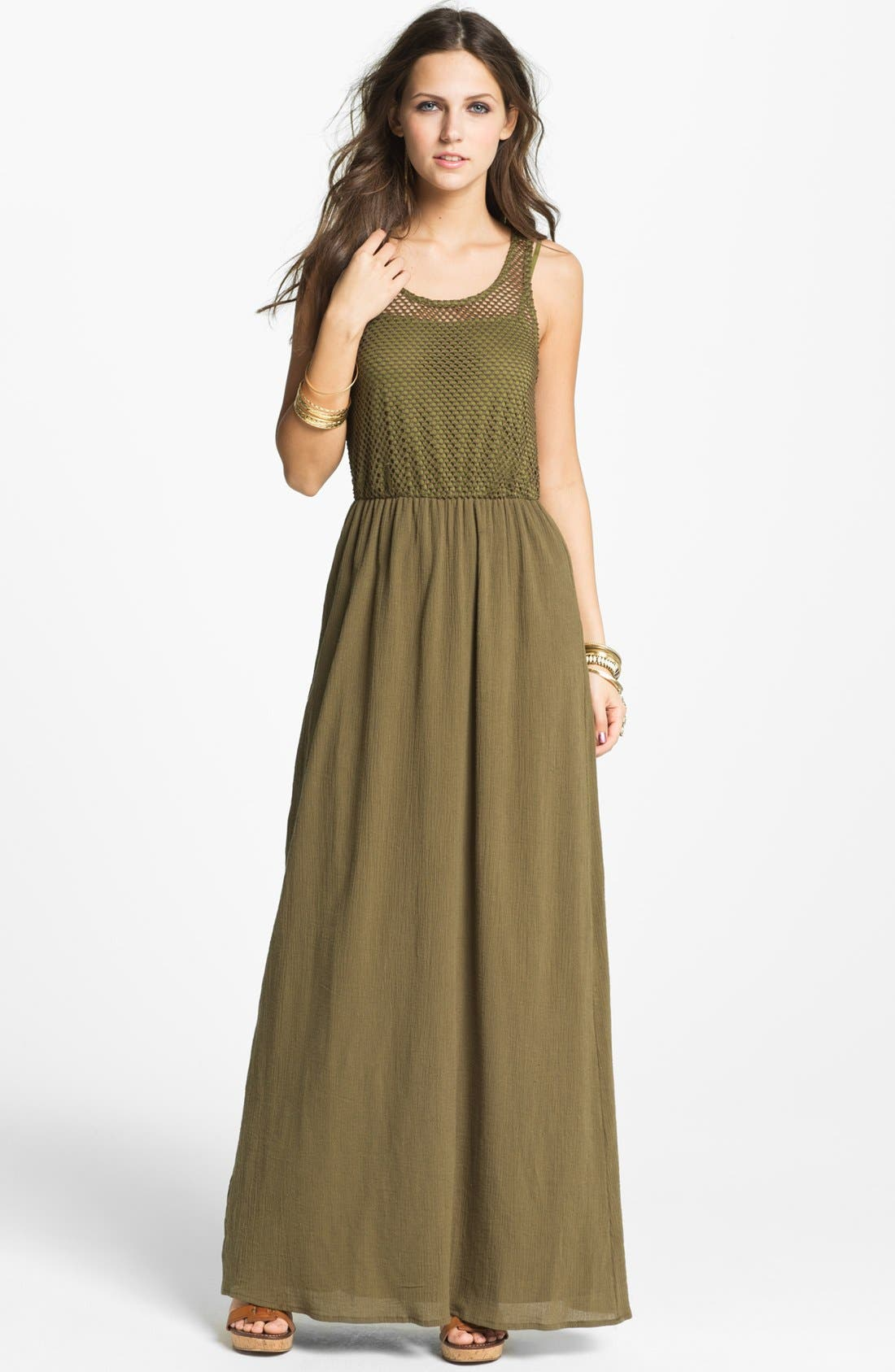 Alternate Image 1 Selected - Way-In Maxi Dress (Juniors)