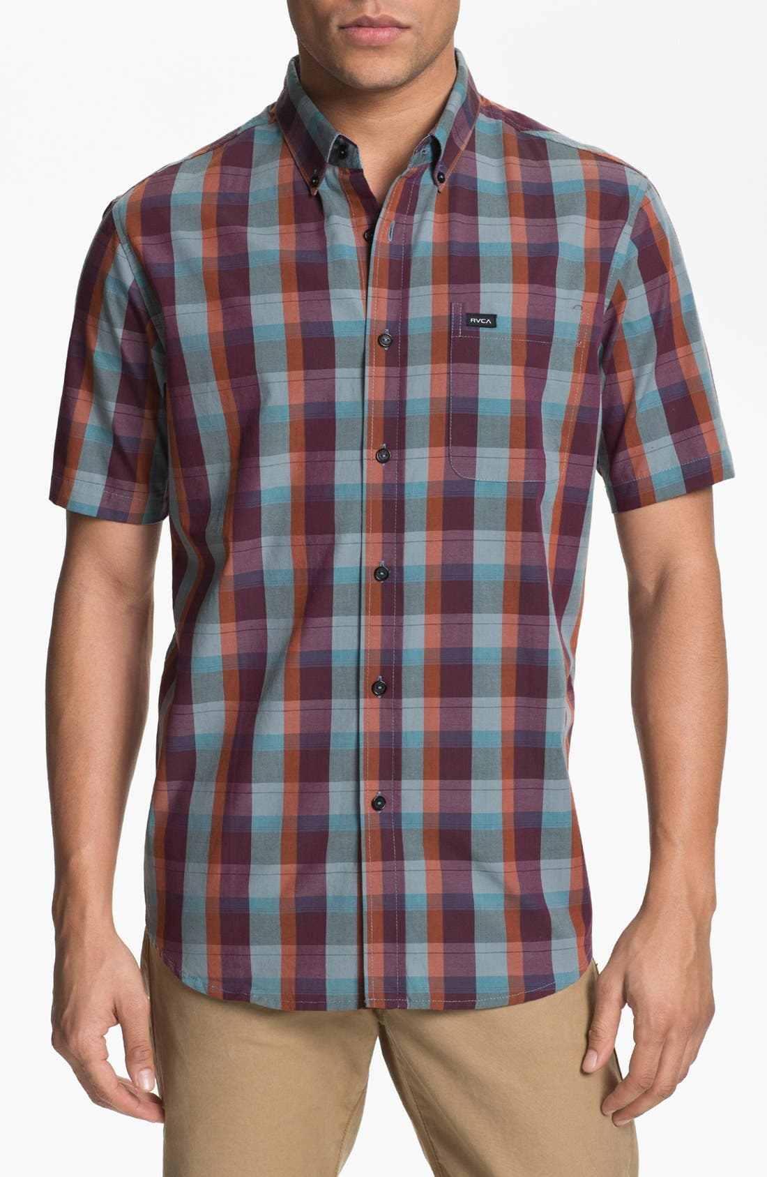 Alternate Image 1 Selected - RVCA 'Mingus' Plaid Woven Shirt