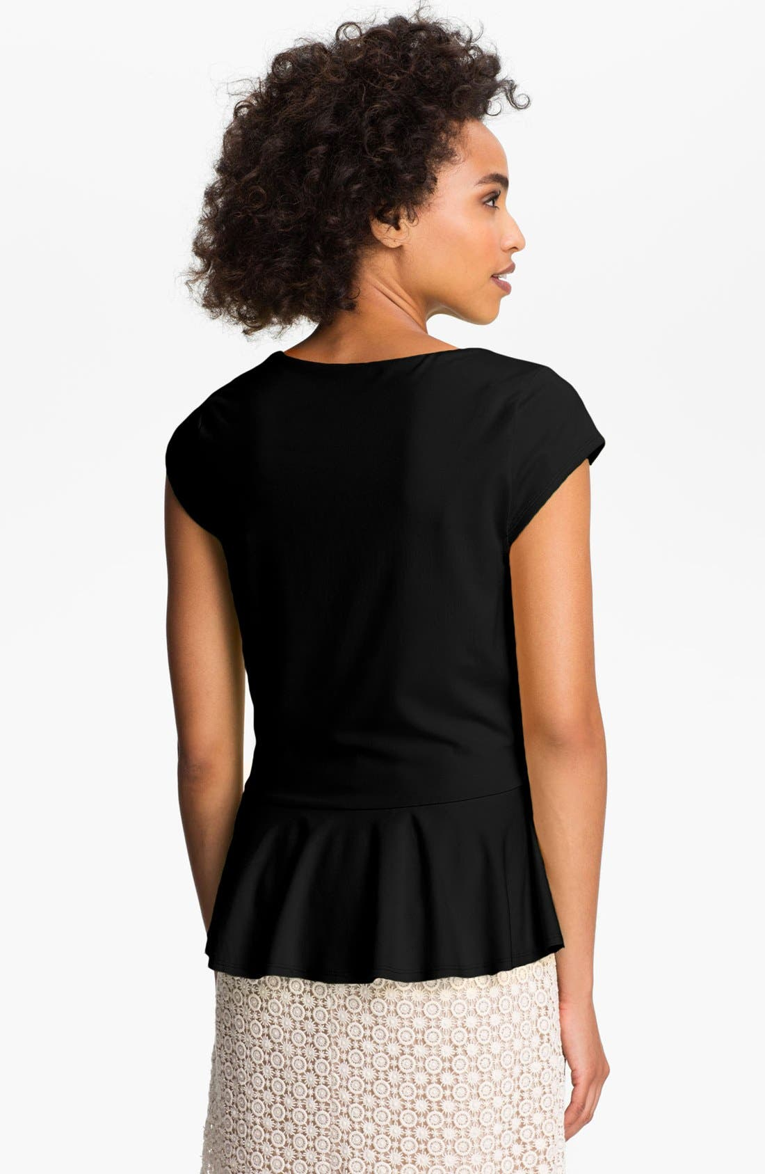 Alternate Image 2  - Vince Camuto Cap Sleeve Peplum Top