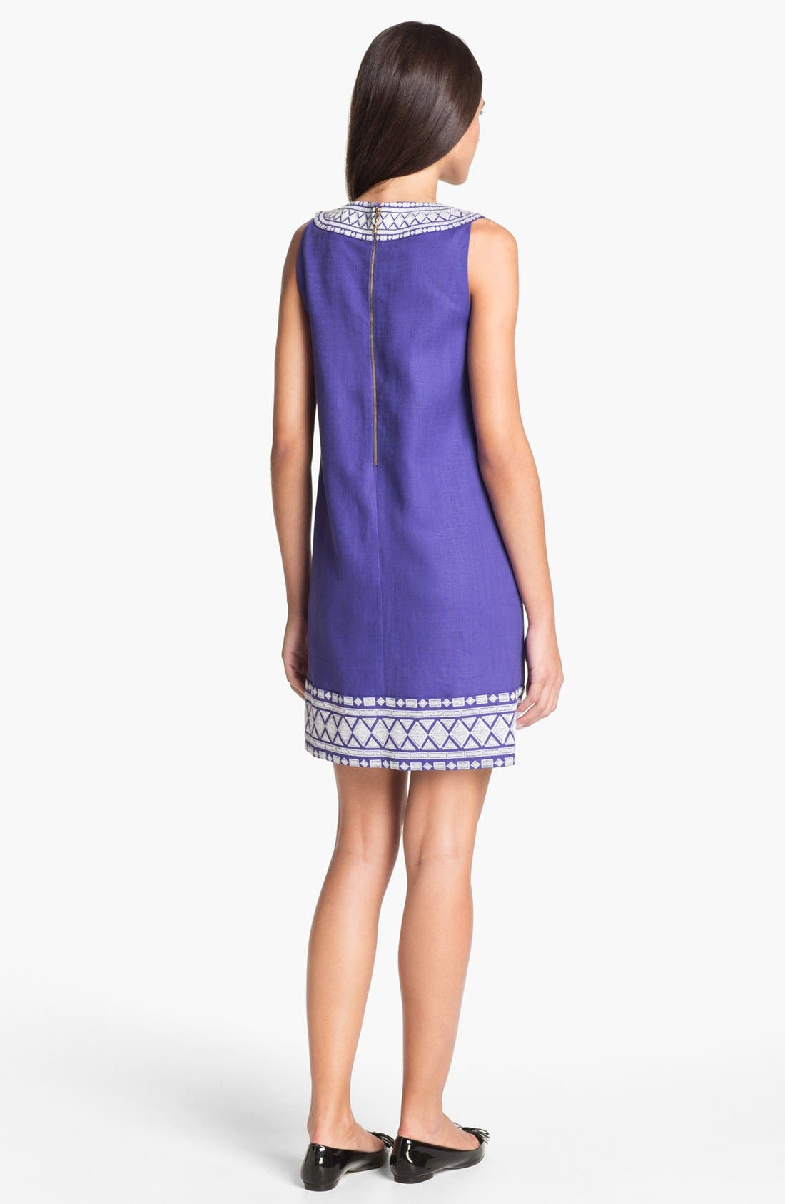 Alternate Image 2  - kate spade new york 'laureen' linen blend shift dress