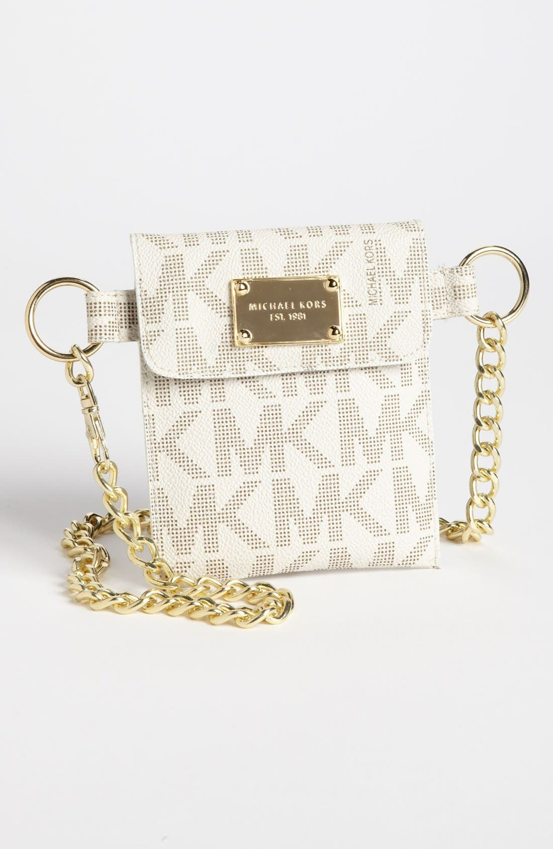 Main Image - MICHAEL Michael Kors Faux Leather Chain Belt Bag