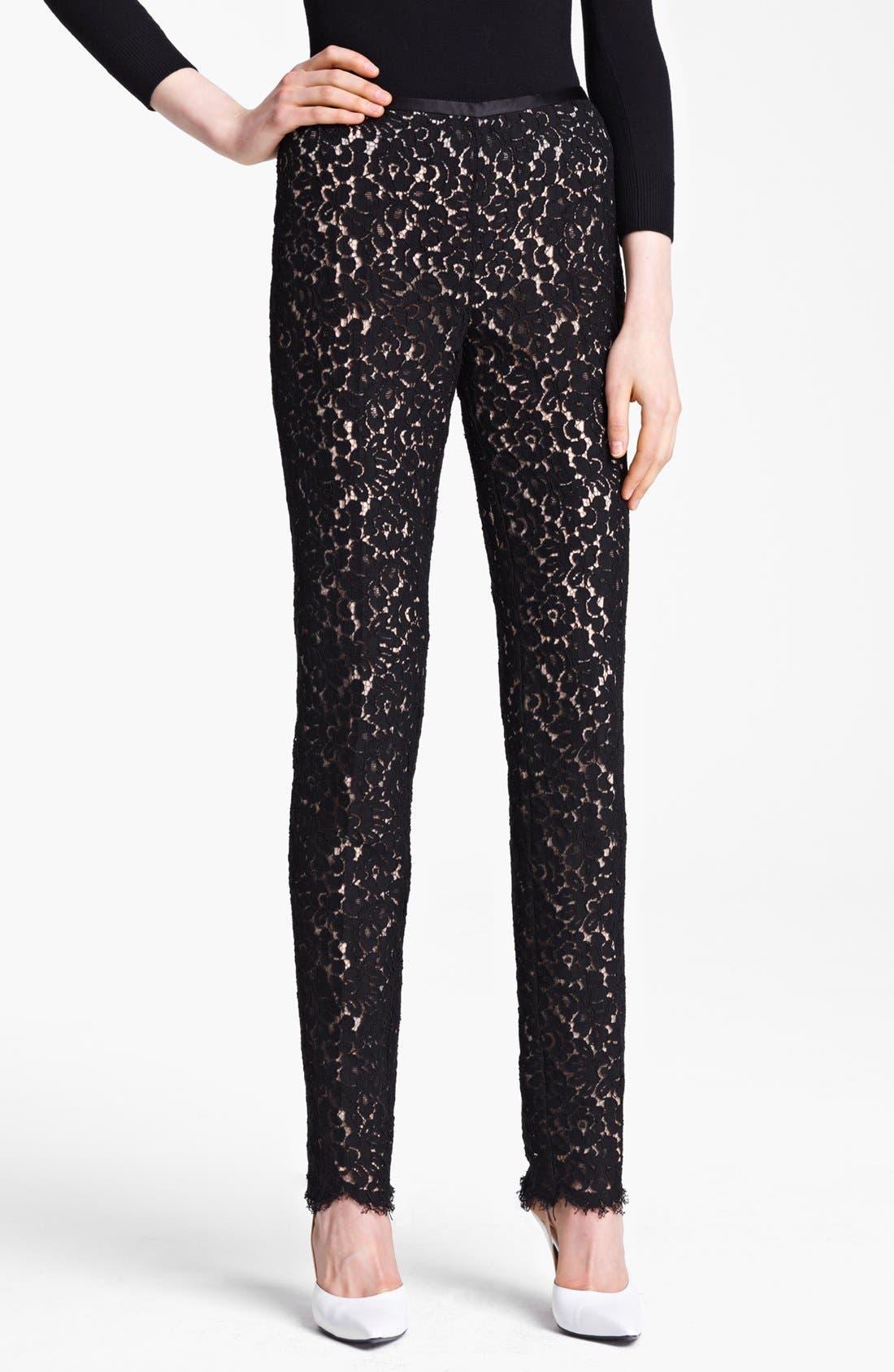 Alternate Image 1 Selected - Michael Kors Floral Lace Pants