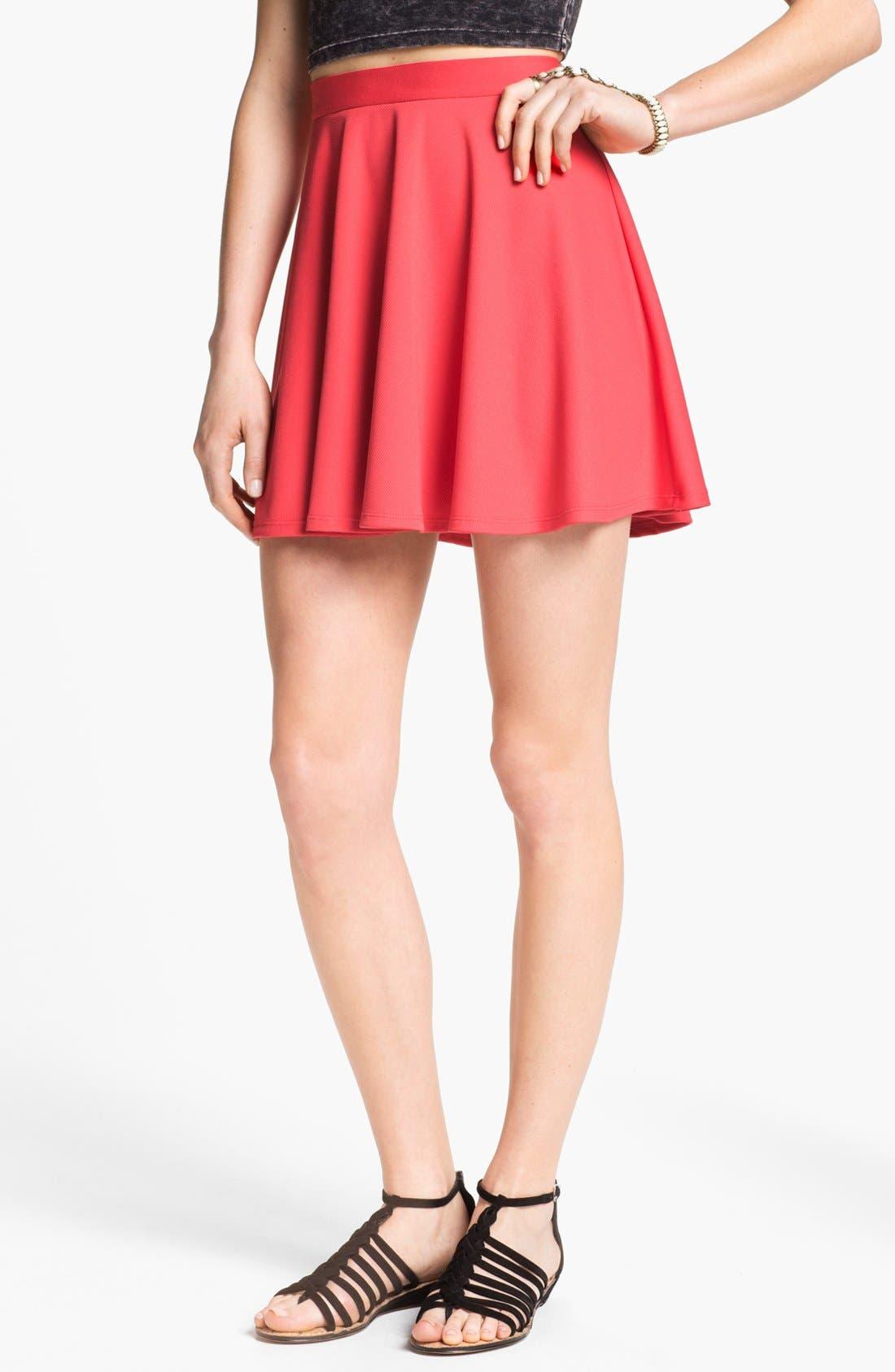 Alternate Image 1 Selected - Lush Skater Skirt (Juniors)
