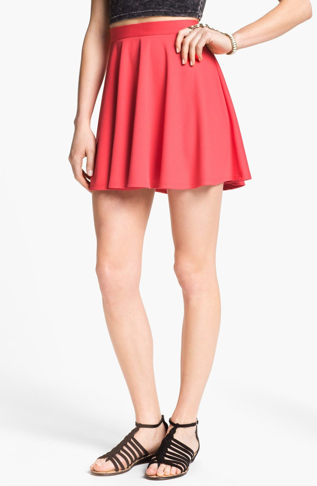 Main Image - Lush Skater Skirt (Juniors)