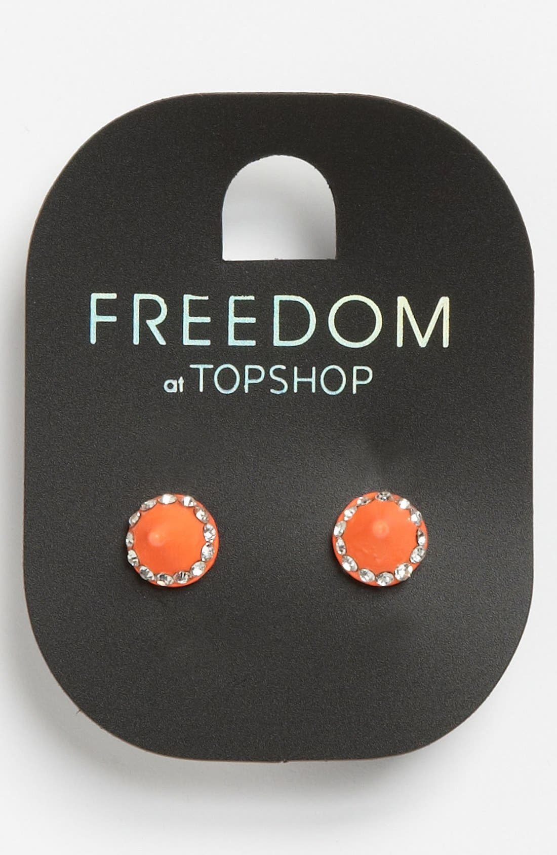 Main Image - Topshop 'Rhinestone Mini Spike' Stud Earrings
