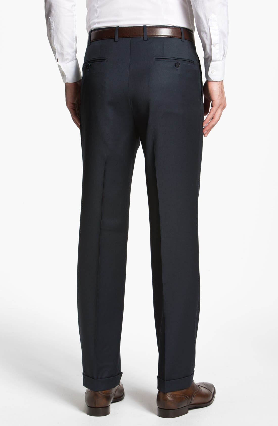 Alternate Image 2  - Canali Pleated Trousers