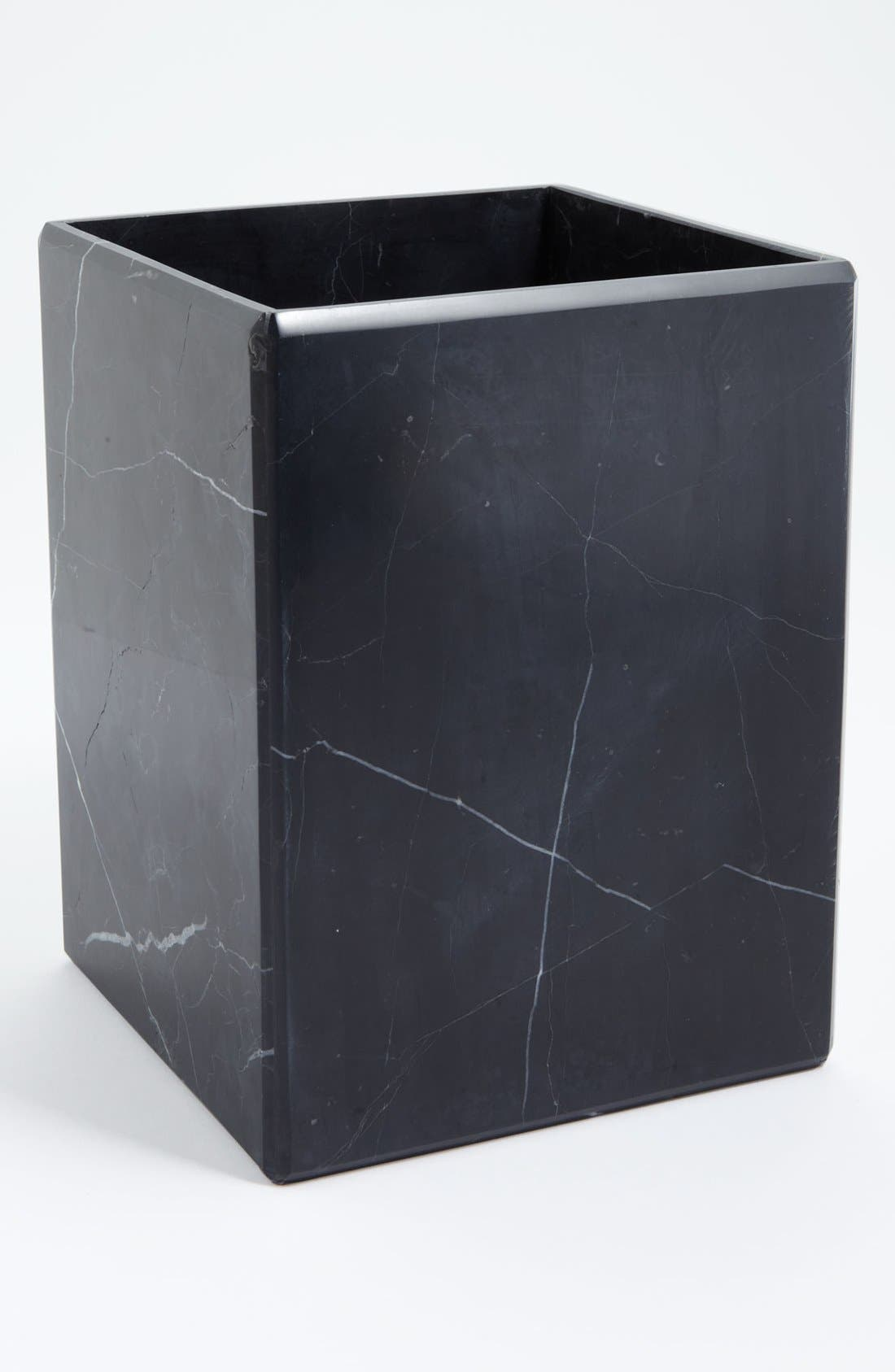 Waterworks Studio 'Luna' Black Marble Wastebasket (Online Only)