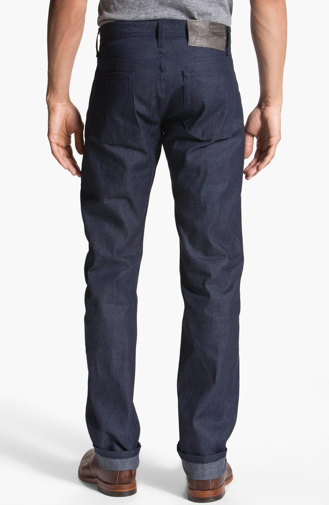 Alternate Image 1 Selected - Naked & Famous Denim 'Weird Guy' Slim Tapered Leg Selvedge Jeans