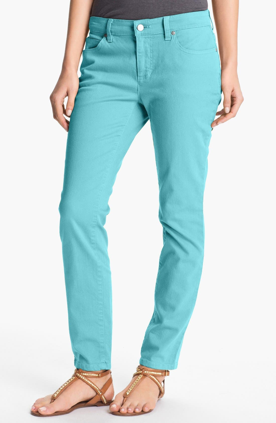 Alternate Image 1 Selected - Eileen Fisher Skinny Ankle Jeans