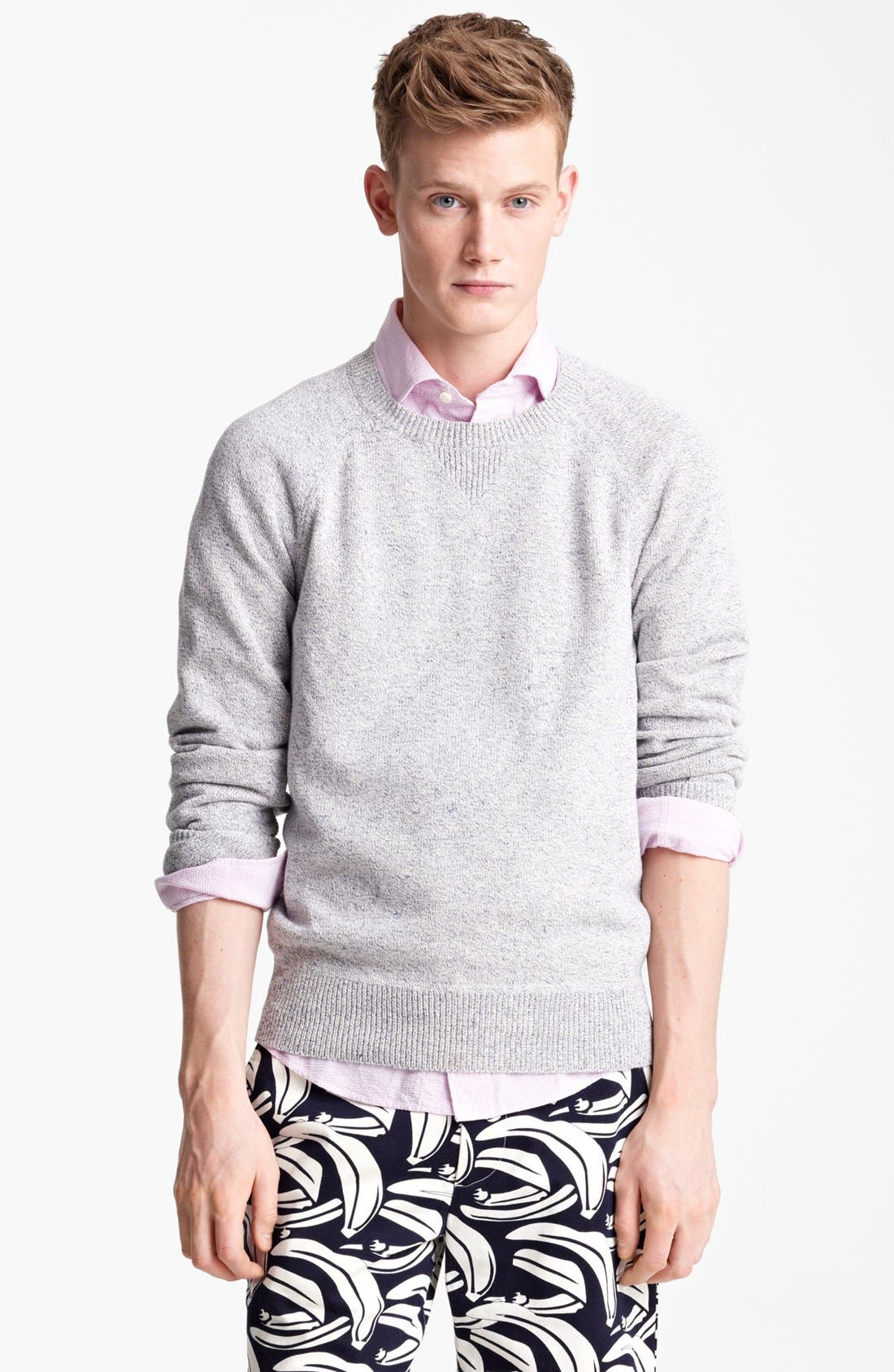 Alternate Image 1 Selected - Jack Spade 'Dawson' Cotton & Linen Crewneck Sweater