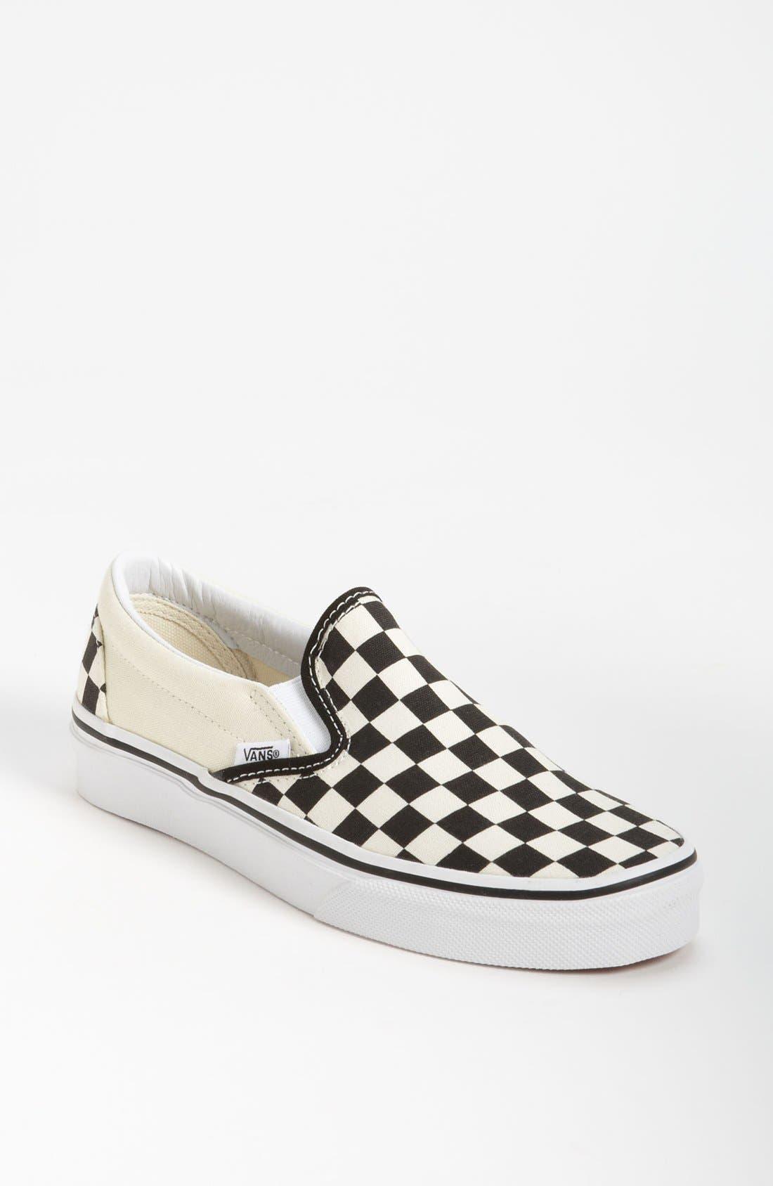 Alternate Image 1 Selected - Vans 'Classic' Checkerboard Sneaker (Women)