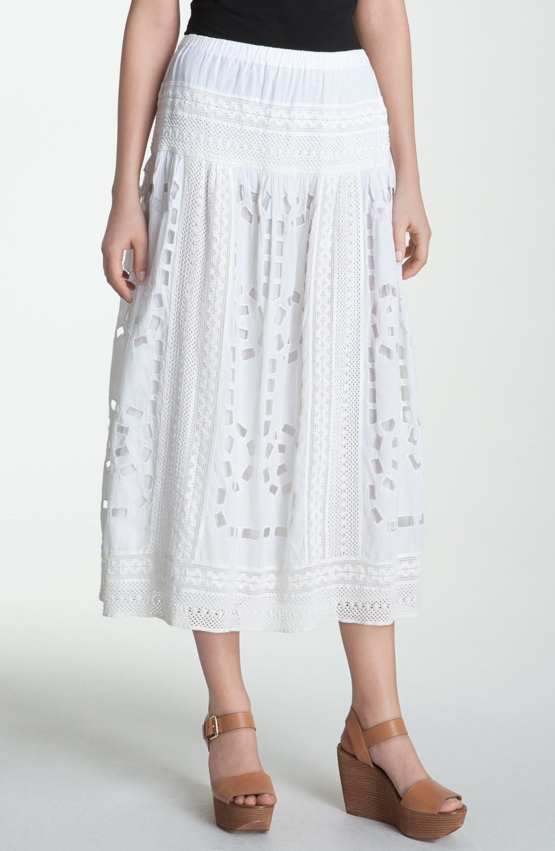 Alternate Image 1 Selected - MICHAEL Michael Kors Crochet & Eyelet Skirt